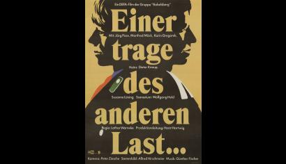 Szenenphoto: Einer trage des anderen Last, Deutsche Demokratische Republik (DDR) 1987. EINER TRAGE DES ANDEREN LAST Plakat © DEFA-Stiftung