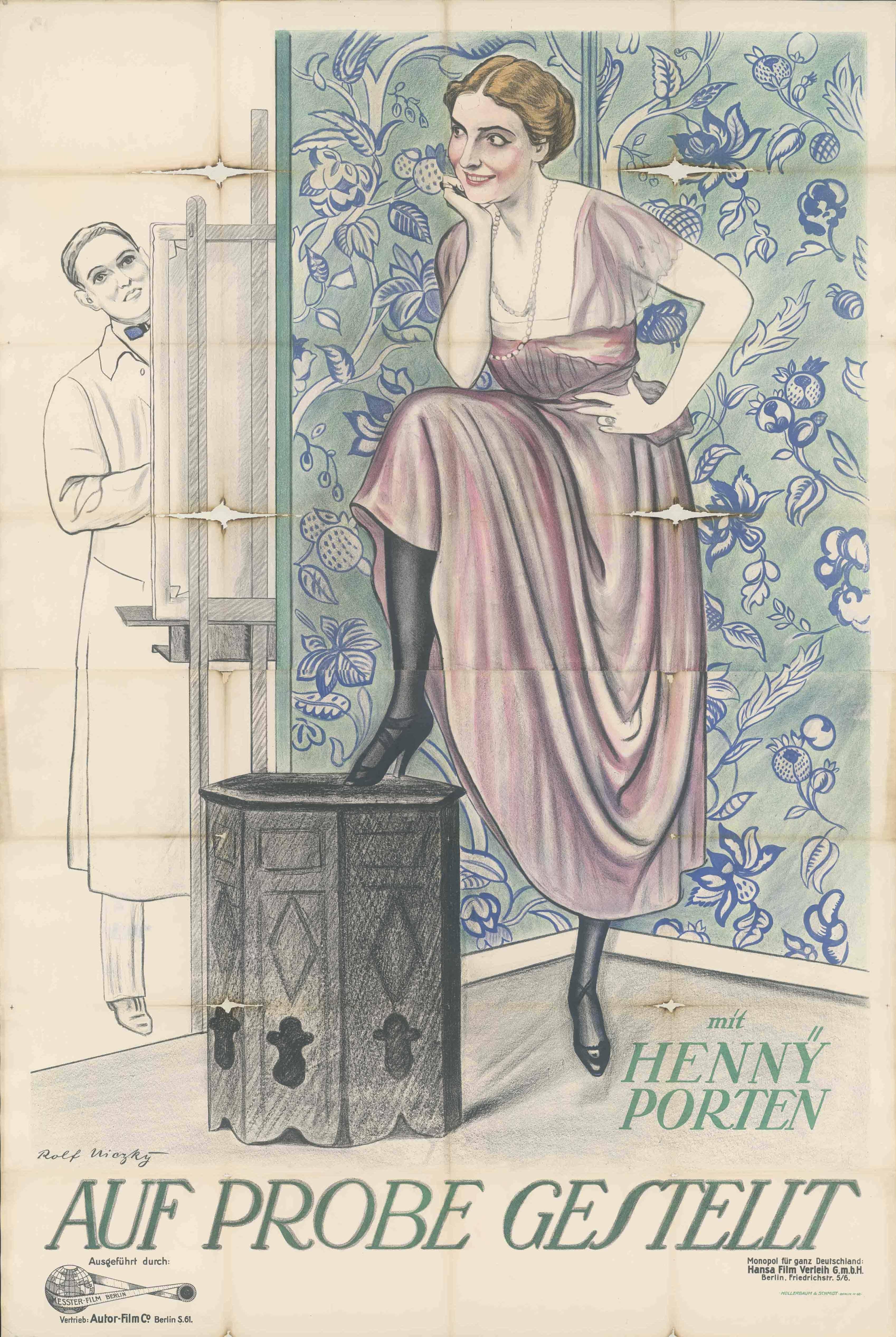 Filmplakat zu dem Film Auf Probe gestellt, Deutschland 1917