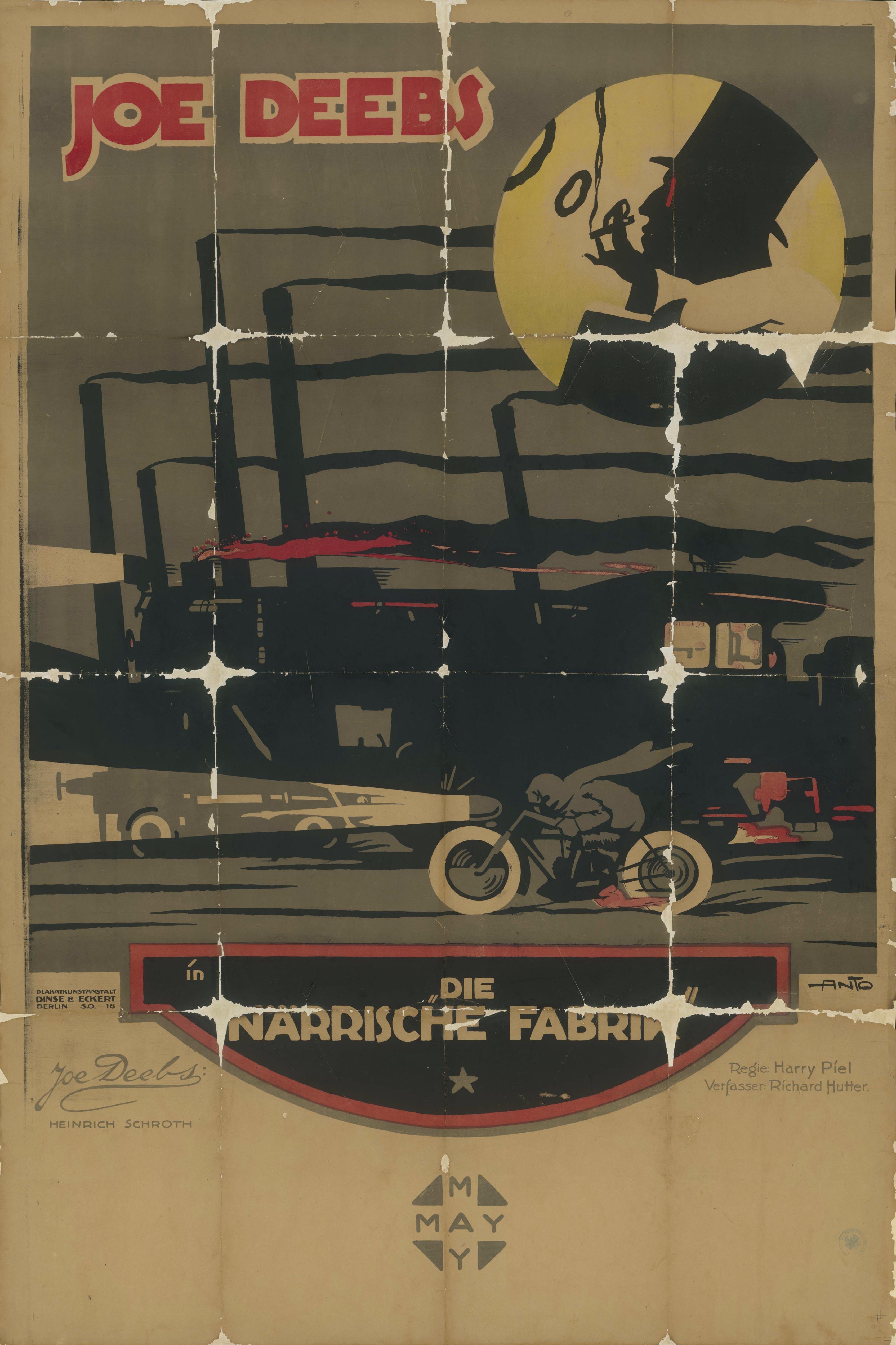 Filmplakat zu dem Film Die närrische Fabrik, Deutschland 1919