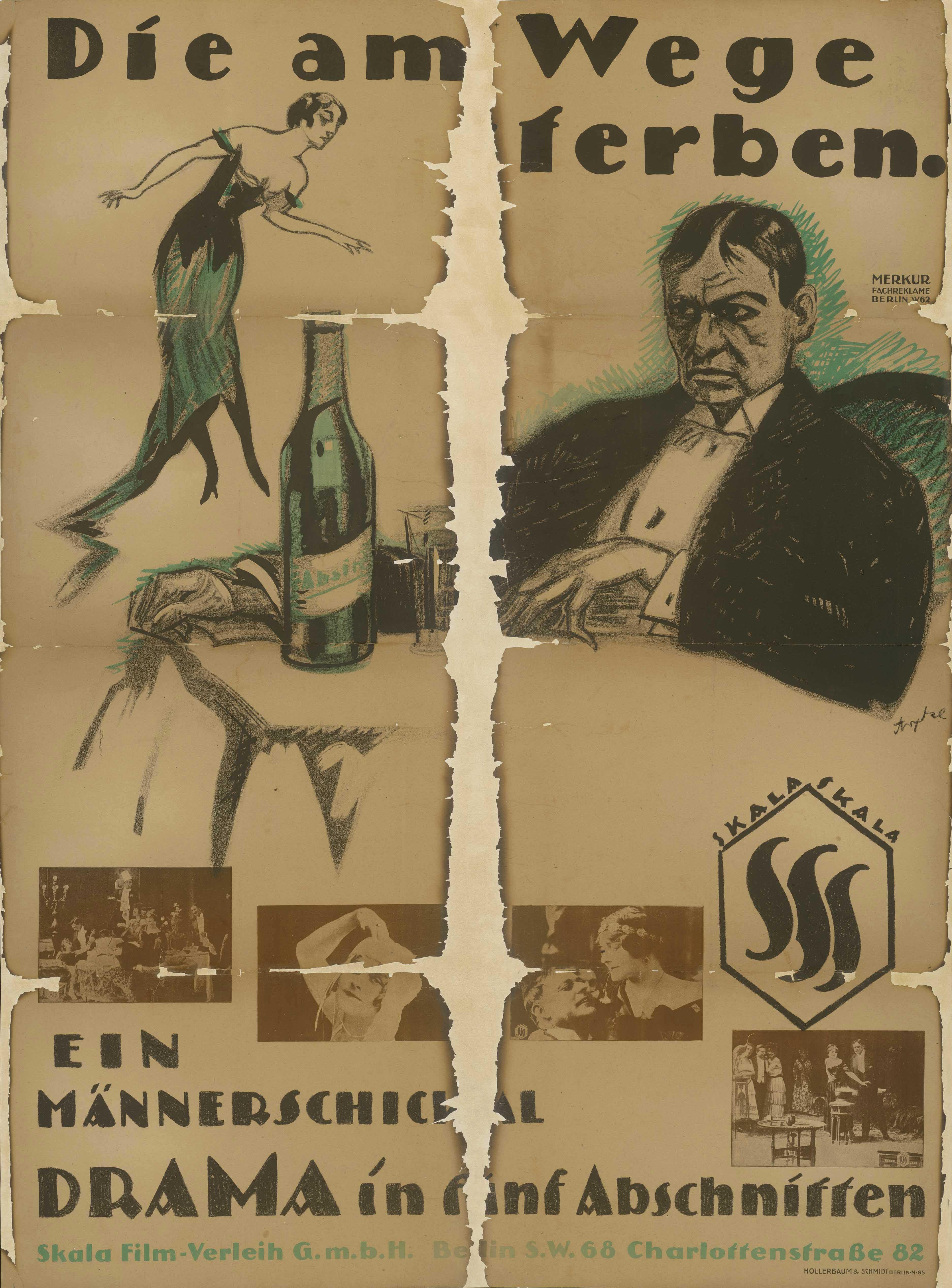 Filmplakat zu dem Film Die am Wege sterben, Deutschland, ca. 1918