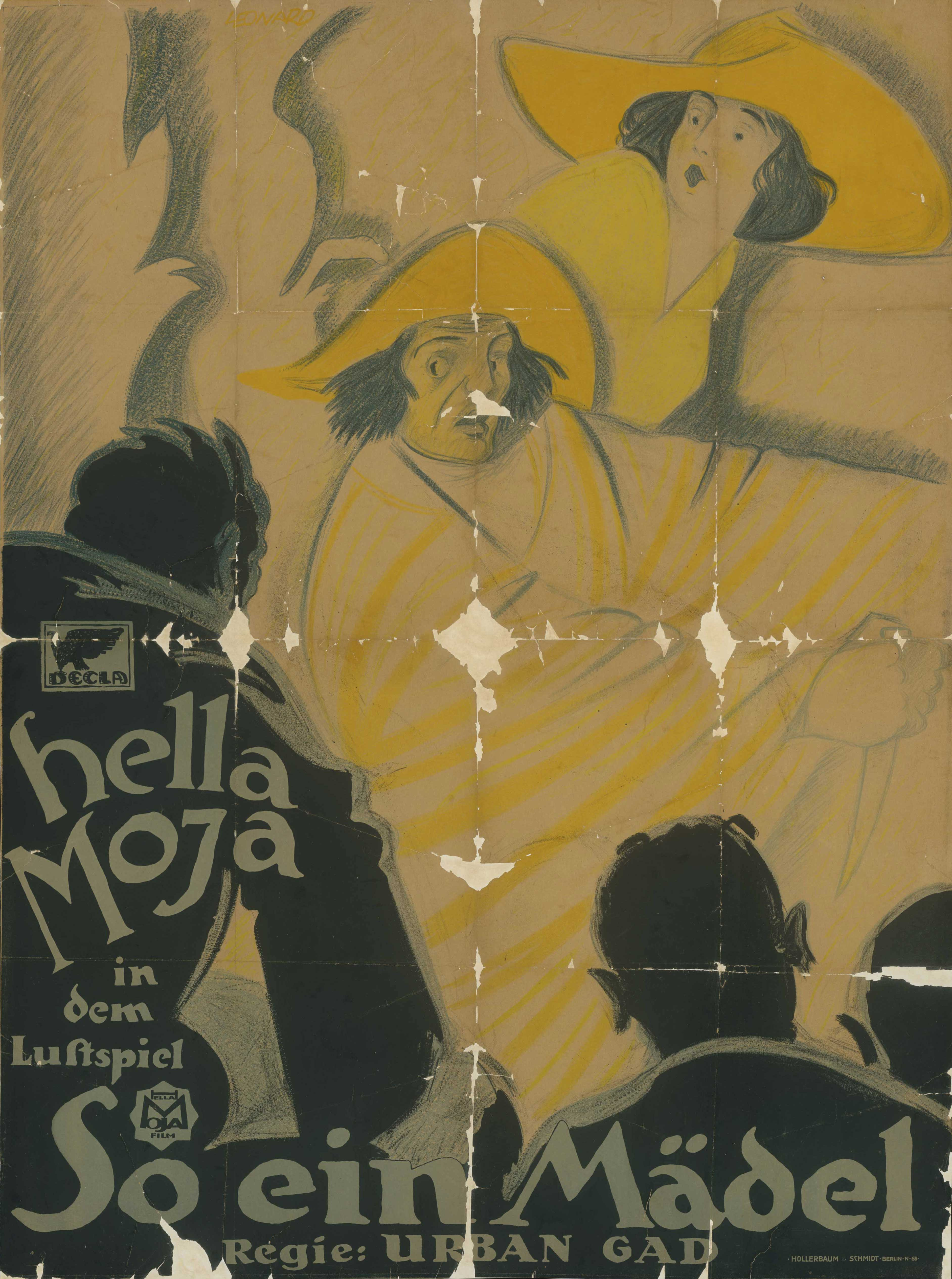 Film poster for So ein Mädel, Germany 1919/1920