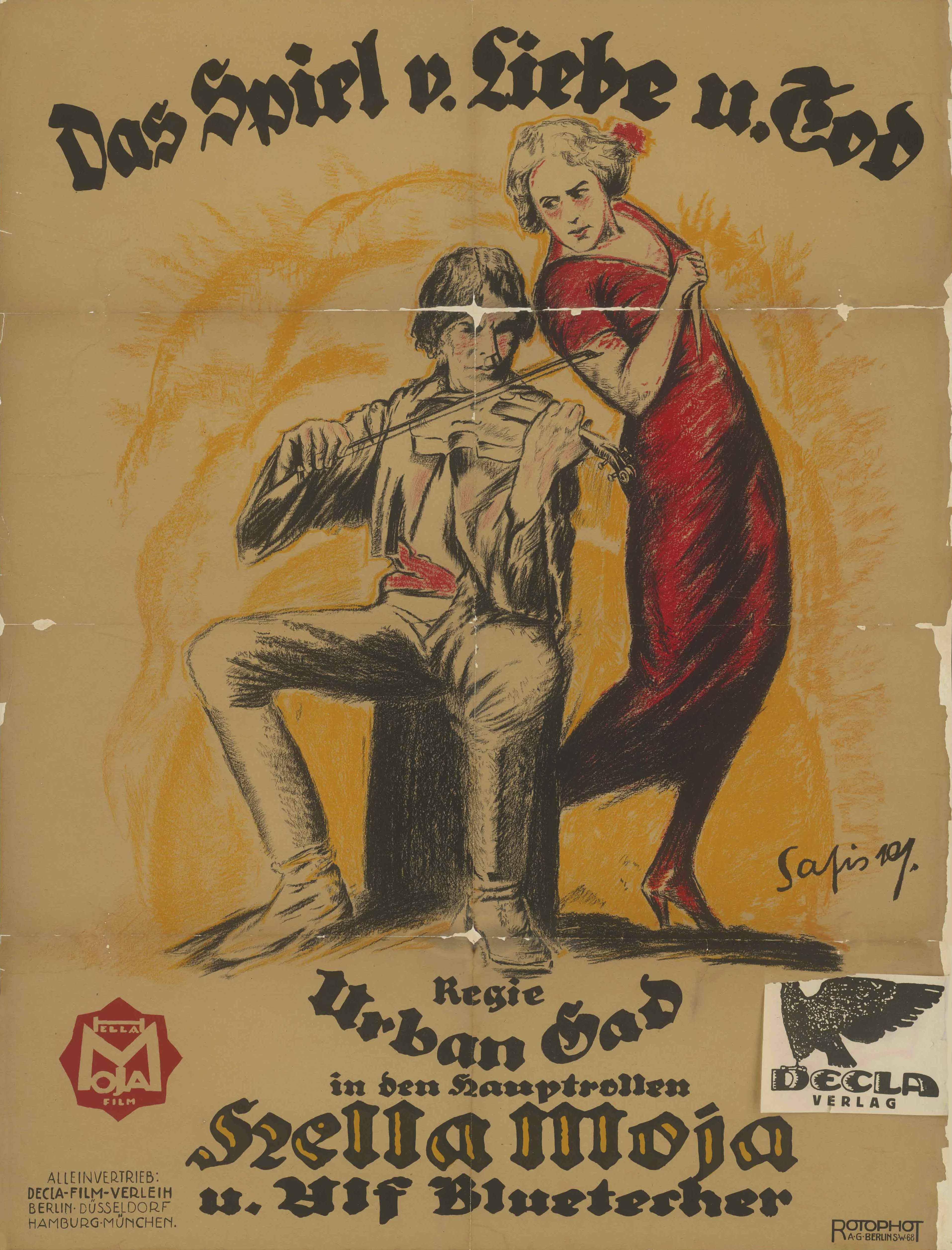 Filmplakat zu dem Film Das Spiel von Liebe und Tod, Deutschland 1919