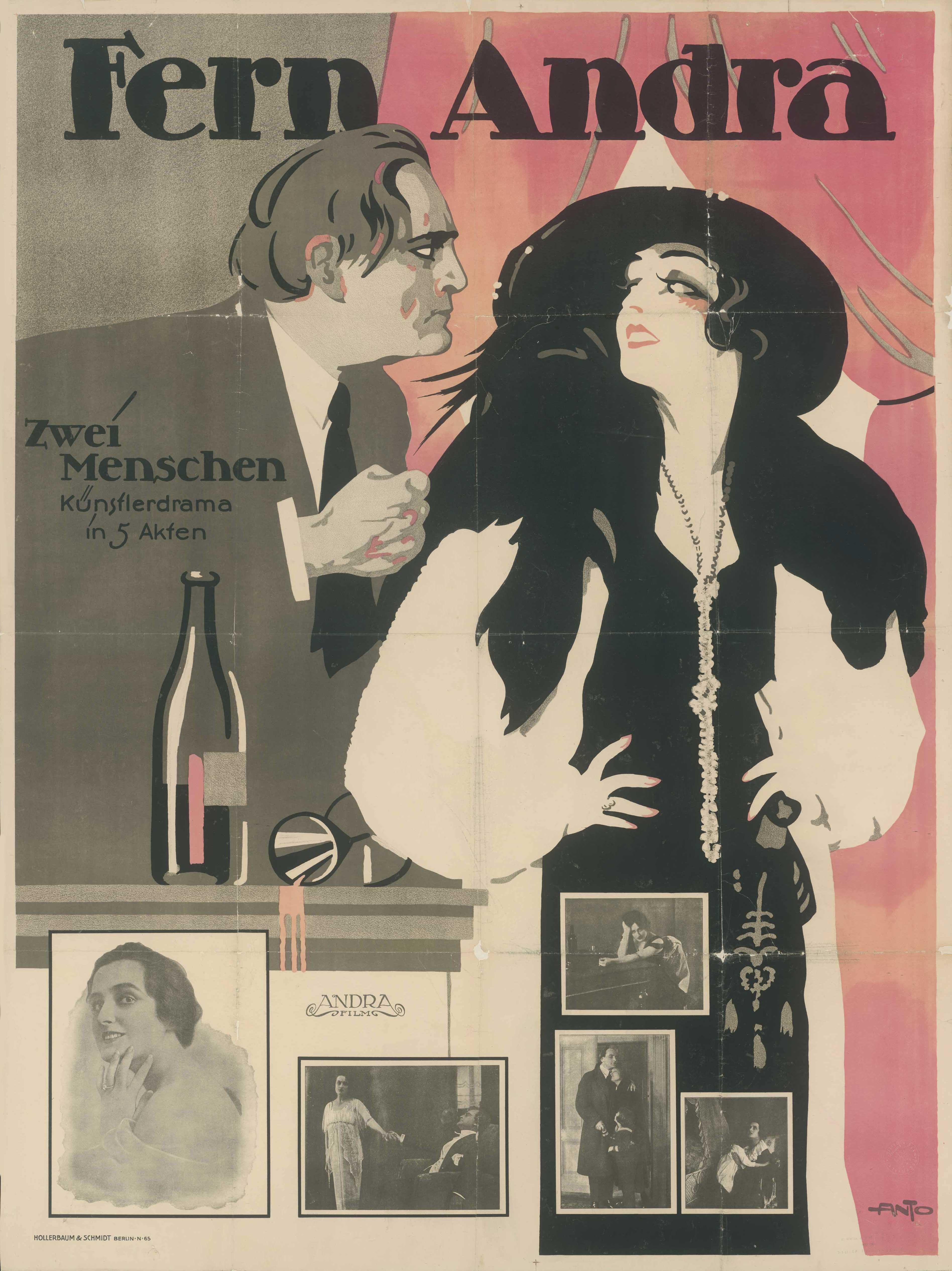 Filmplakat zu dem Film Zwei Menschen, Deutschland 1919