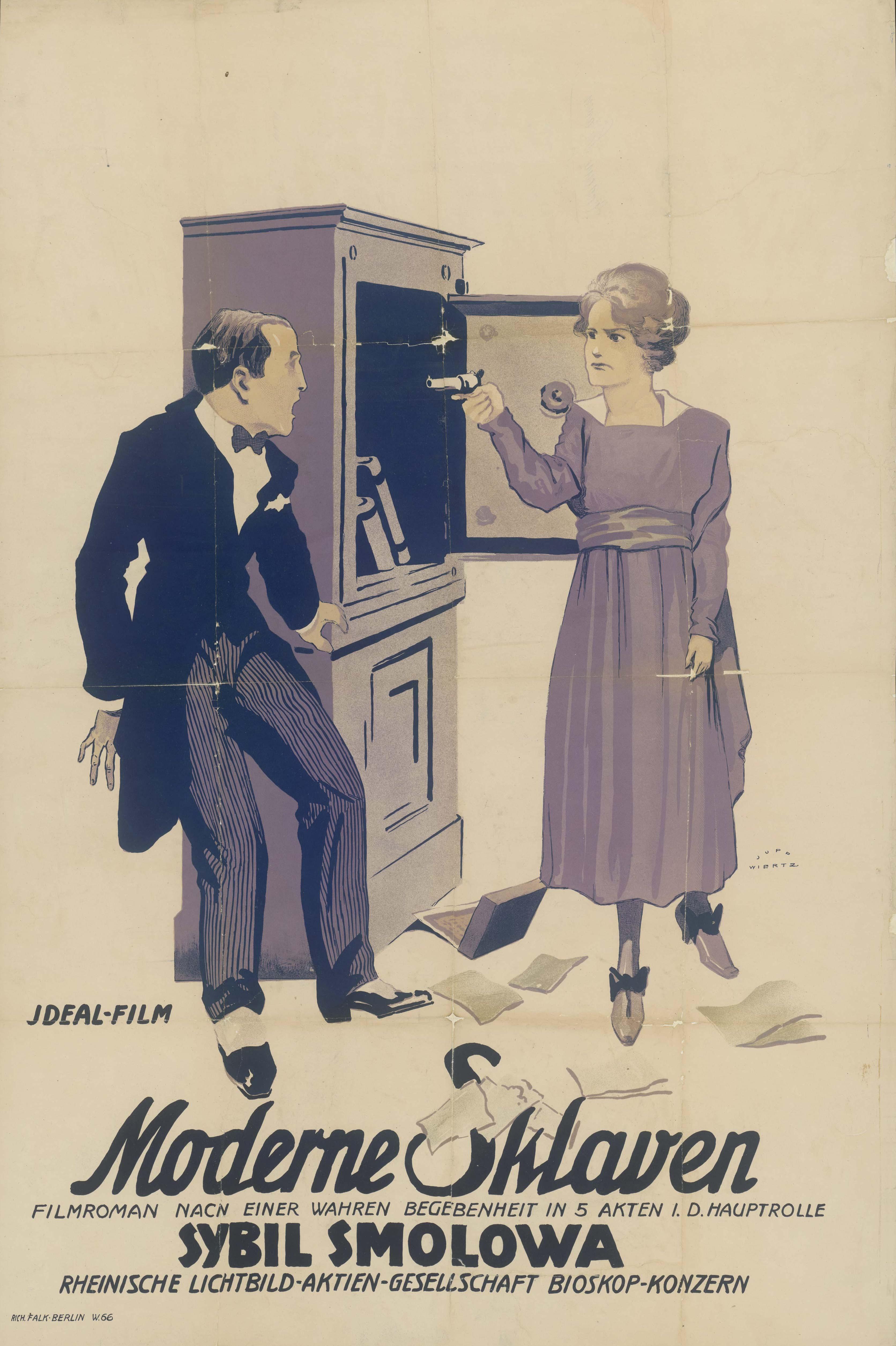 Filmplakat zu dem Film Moderne Sklaven, Deutschland 1920