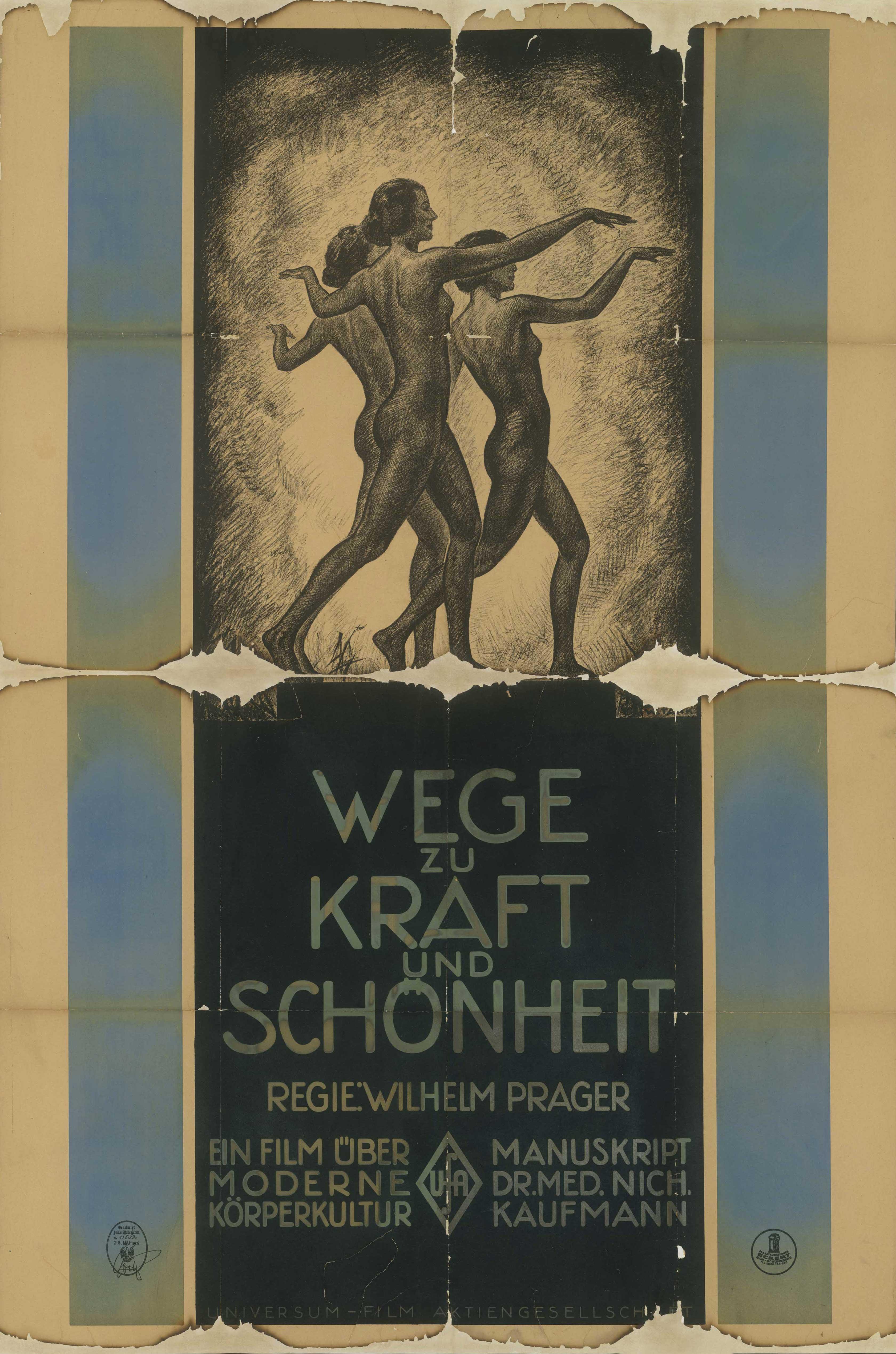 Filmplakat zu dem Film Wege zu Kraft und Schönheit, Deutschland 1925