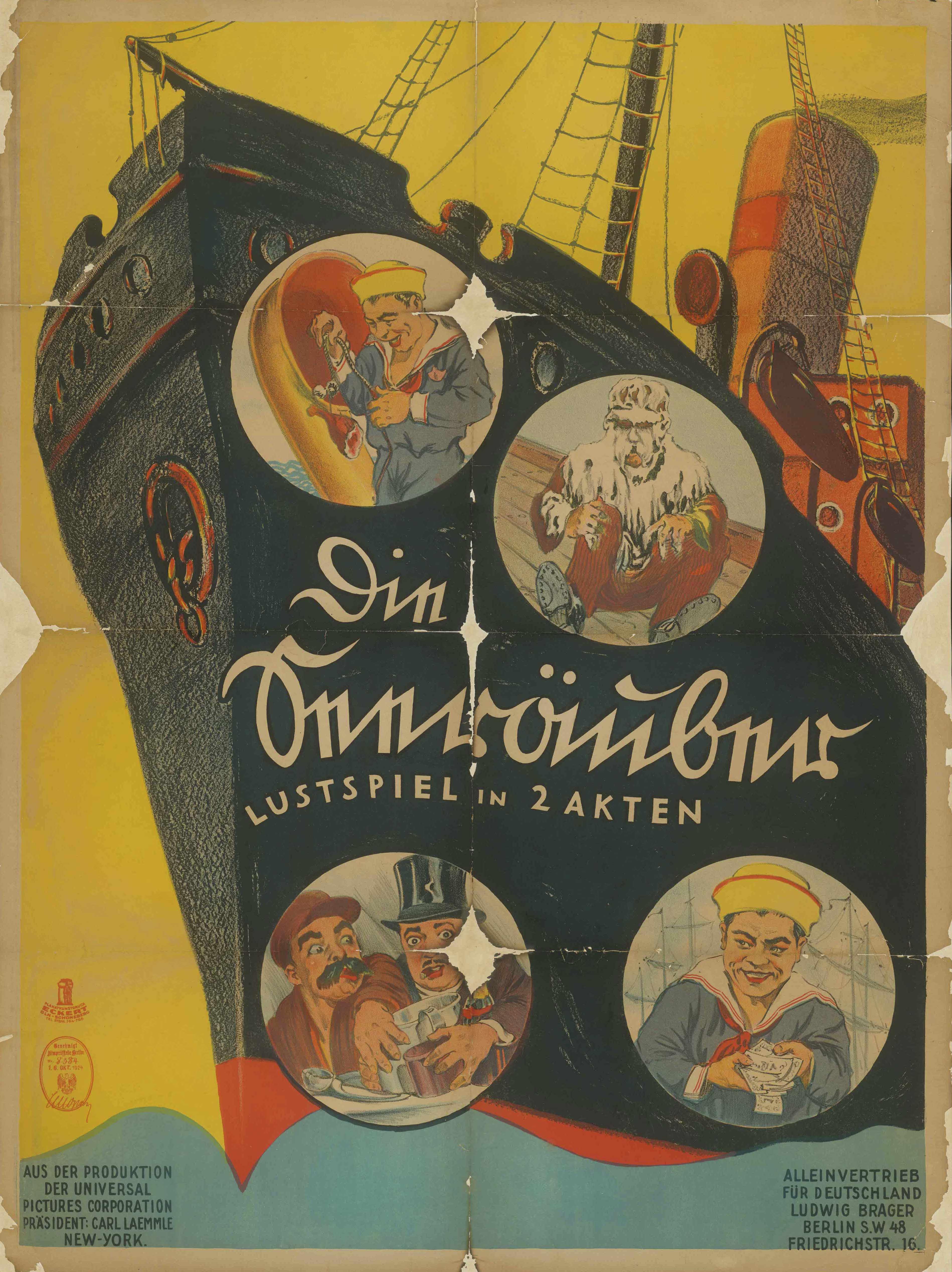 Filmplakat zu dem Film Die Seeräuber, USA 1924