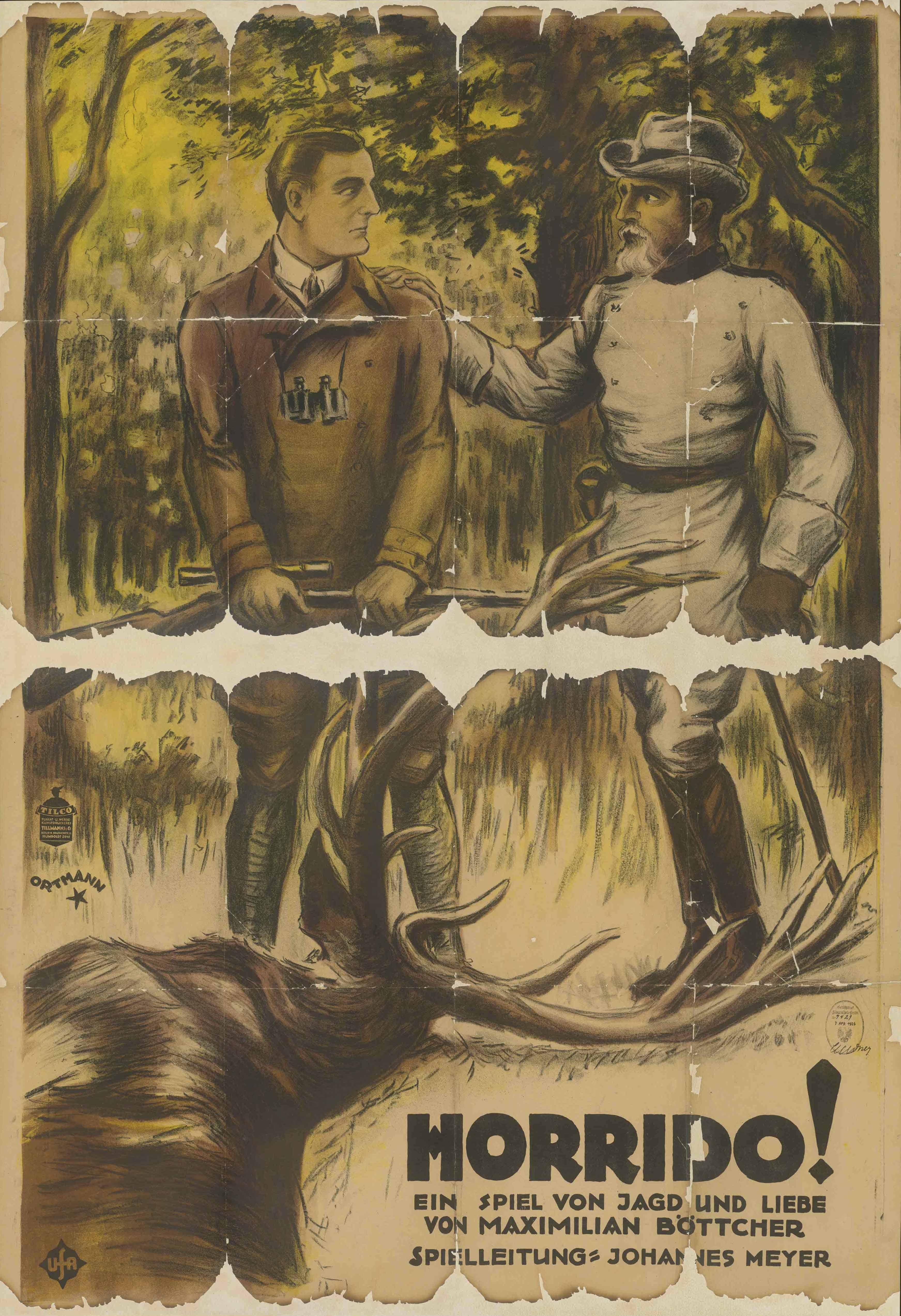 Filmplakat zu dem Film Horrido!, Deutschland 1924