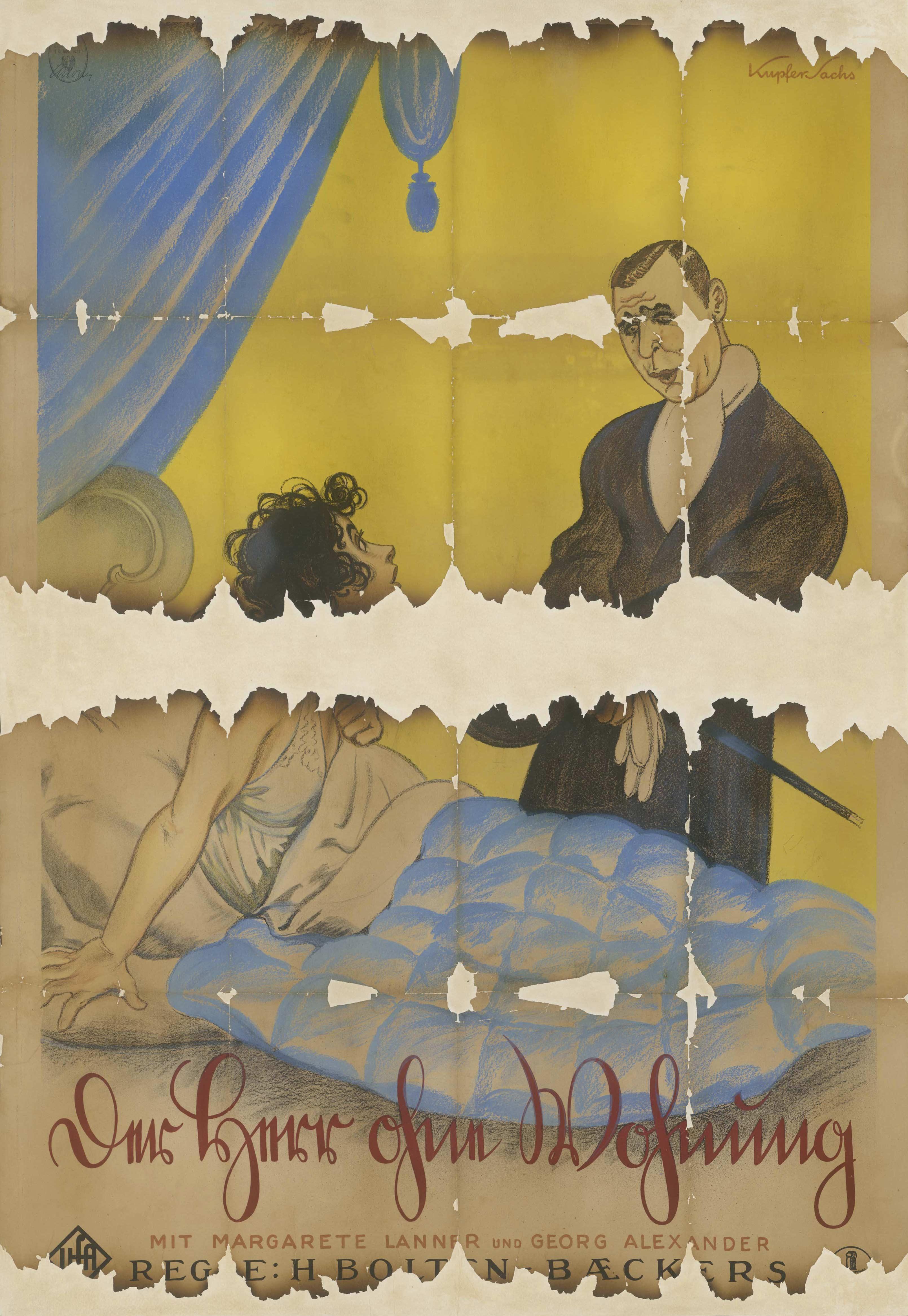 Filmplakat für Der Herr ohne Wohnung, Deutschland 1925