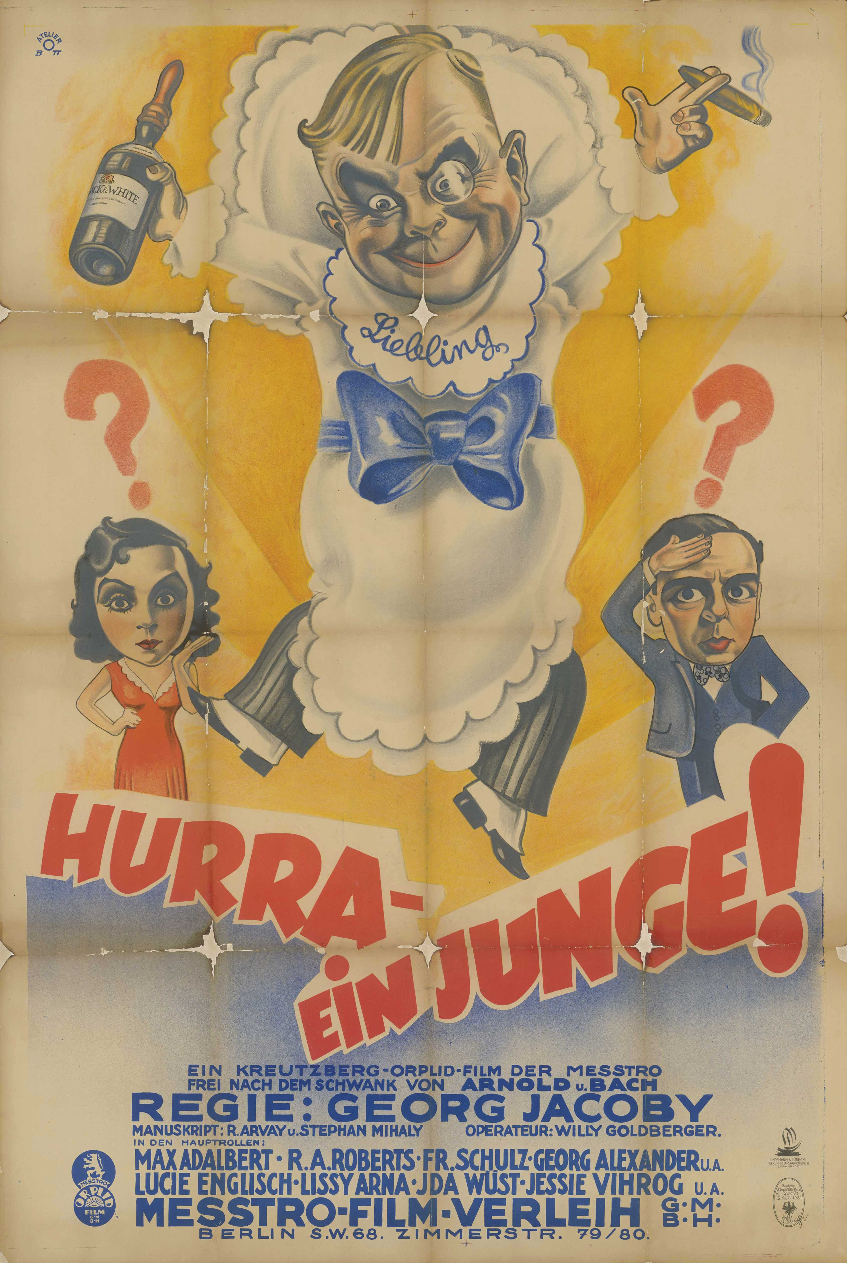 Film poster for Hurra – ein Junge!, Germany 1931