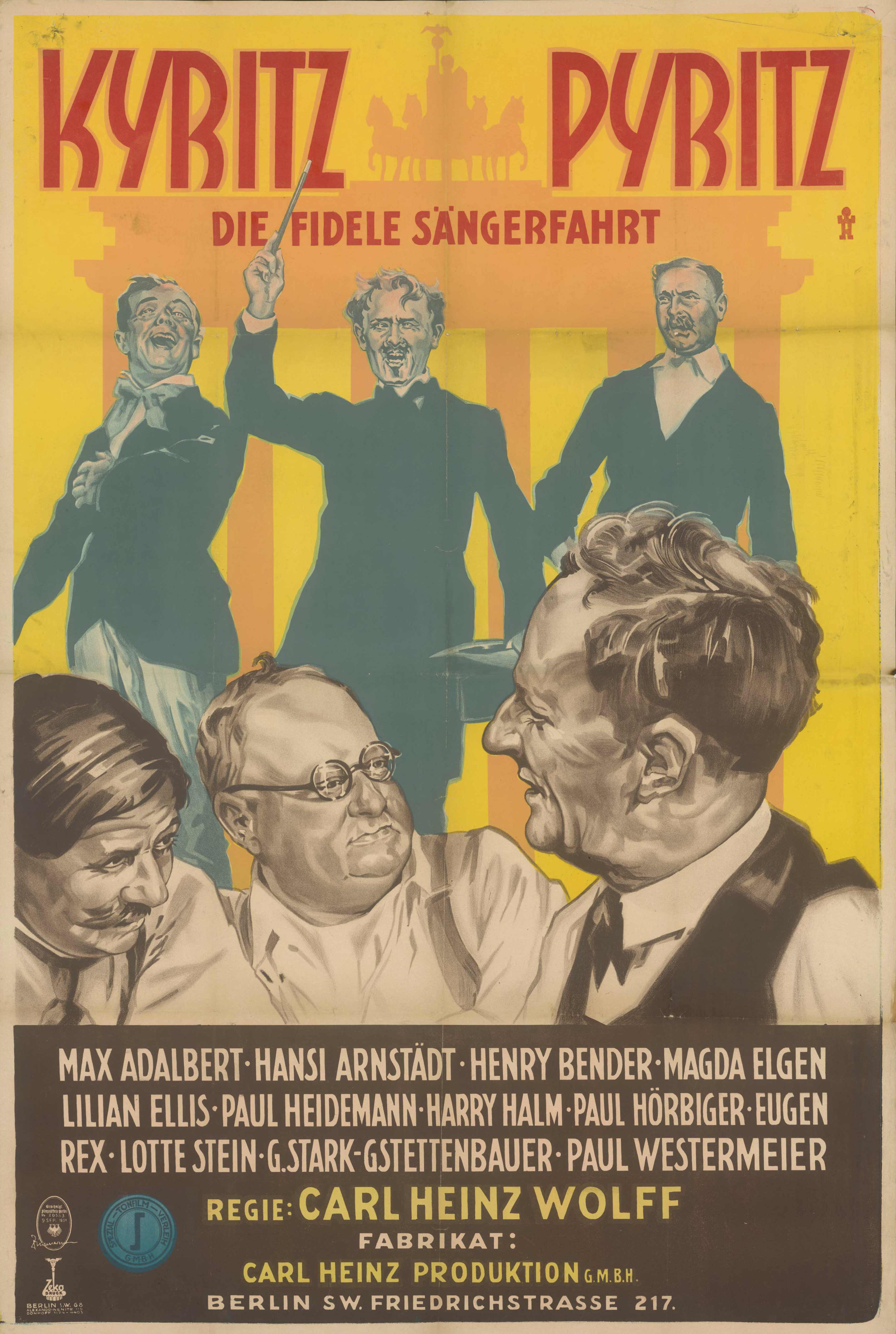 Film poster for Kyritz – Pyritz, Germany 1931