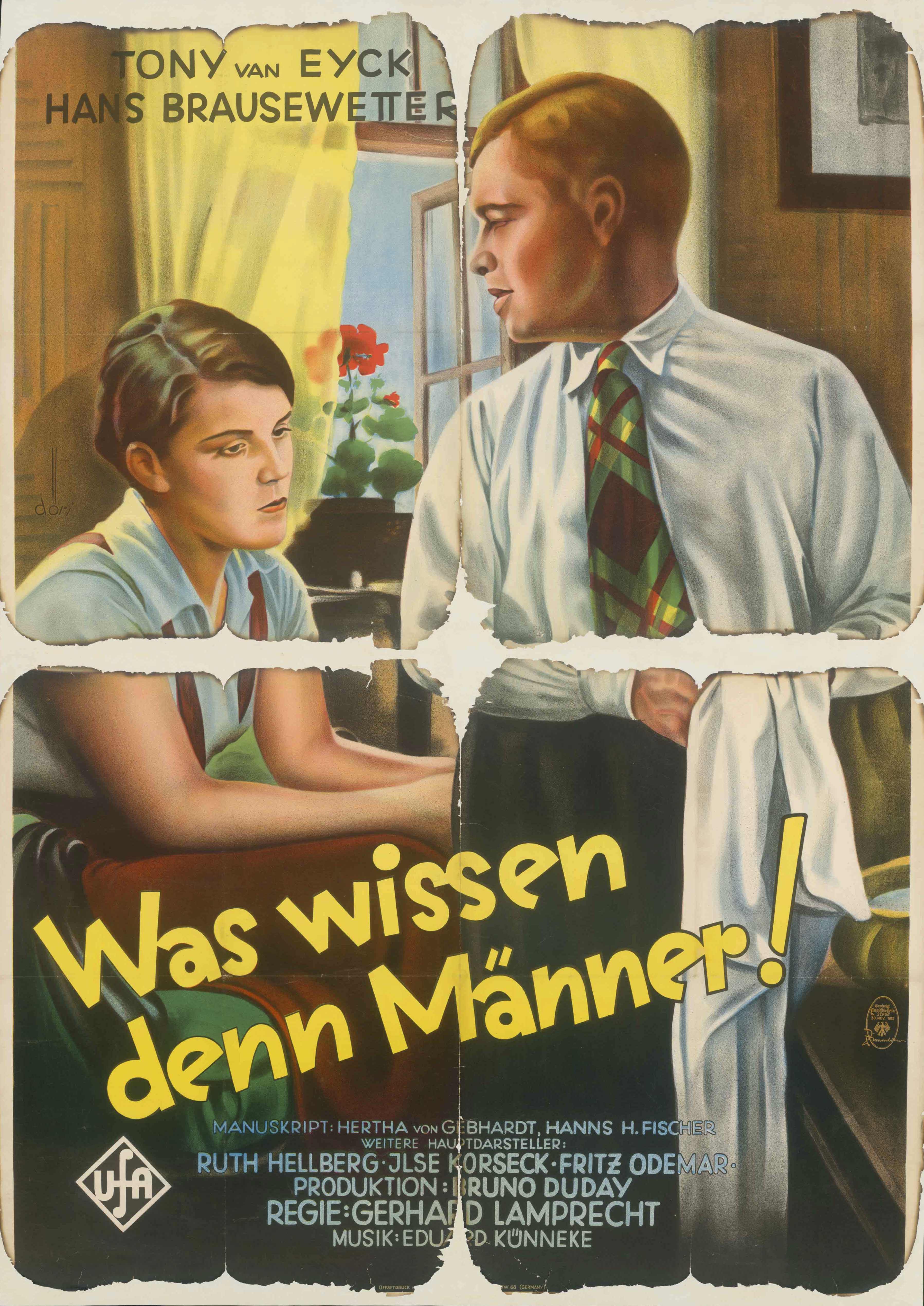 Filmplakat für Was wissen denn Männer!, Deutschland 1932/1933