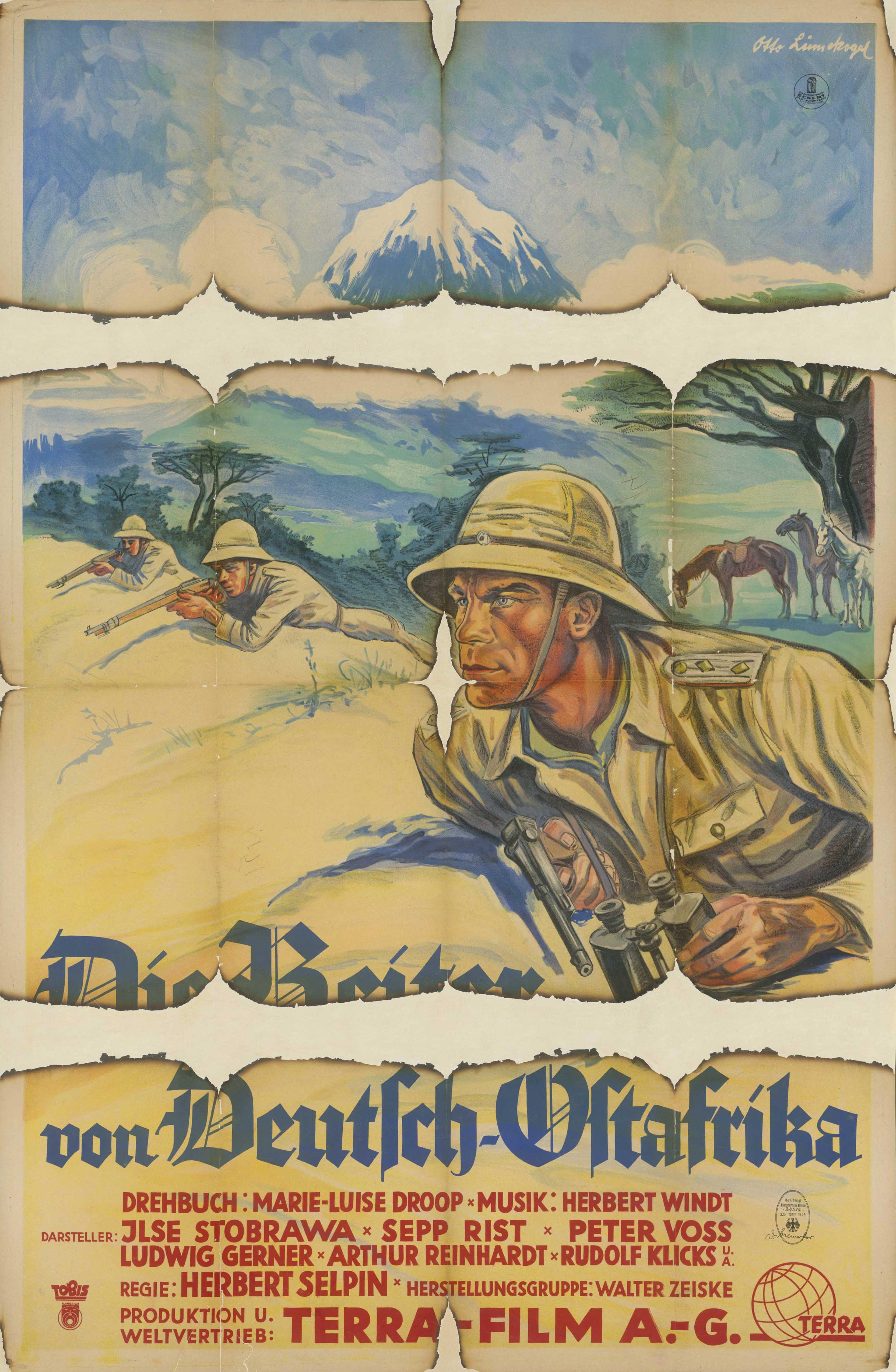Filmplakat zu dem Film Die Reiter von Deutsch-Ostafrika, Deutschland 1934