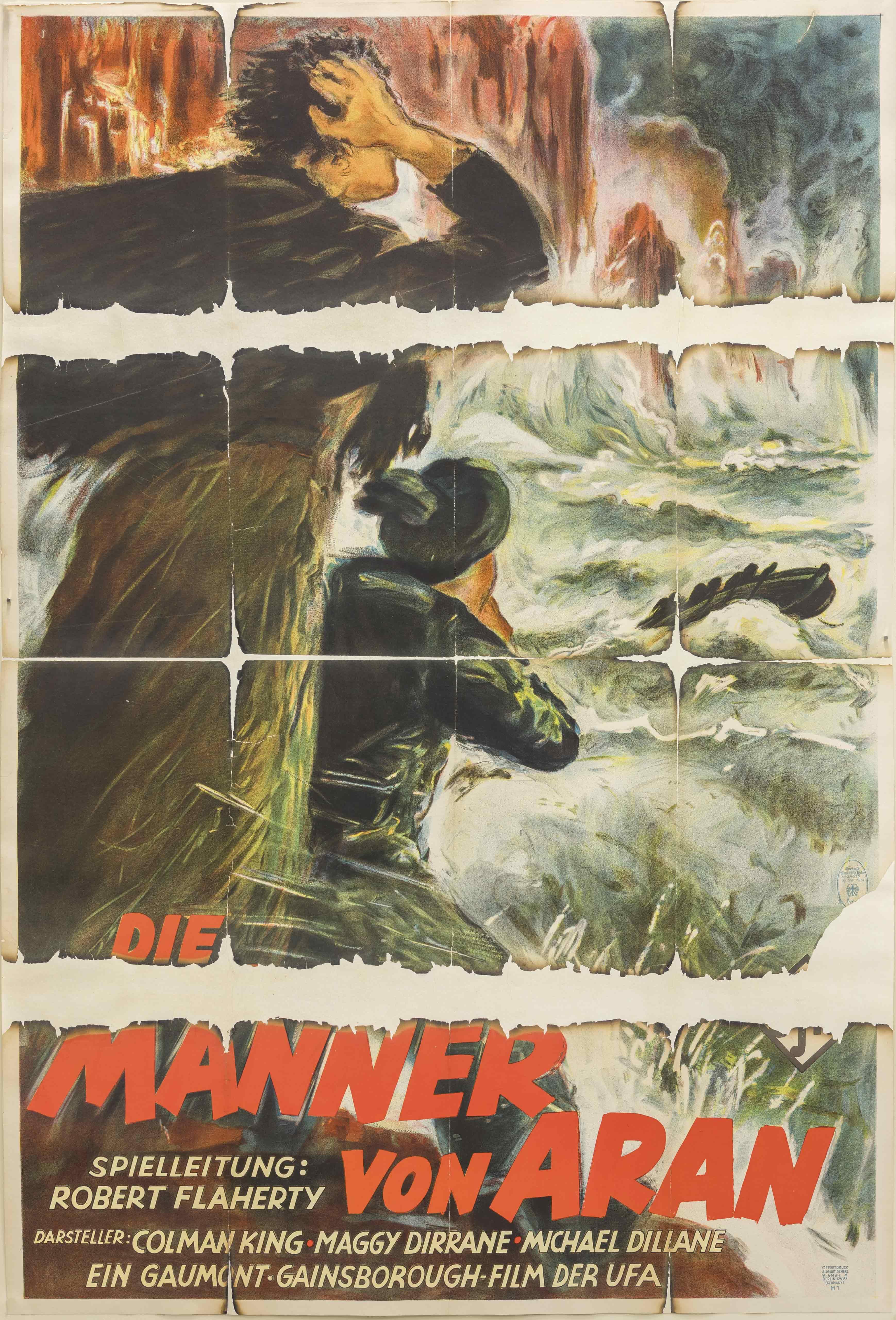 Filmplakat zu dem Film Man of Aran, GB 1934