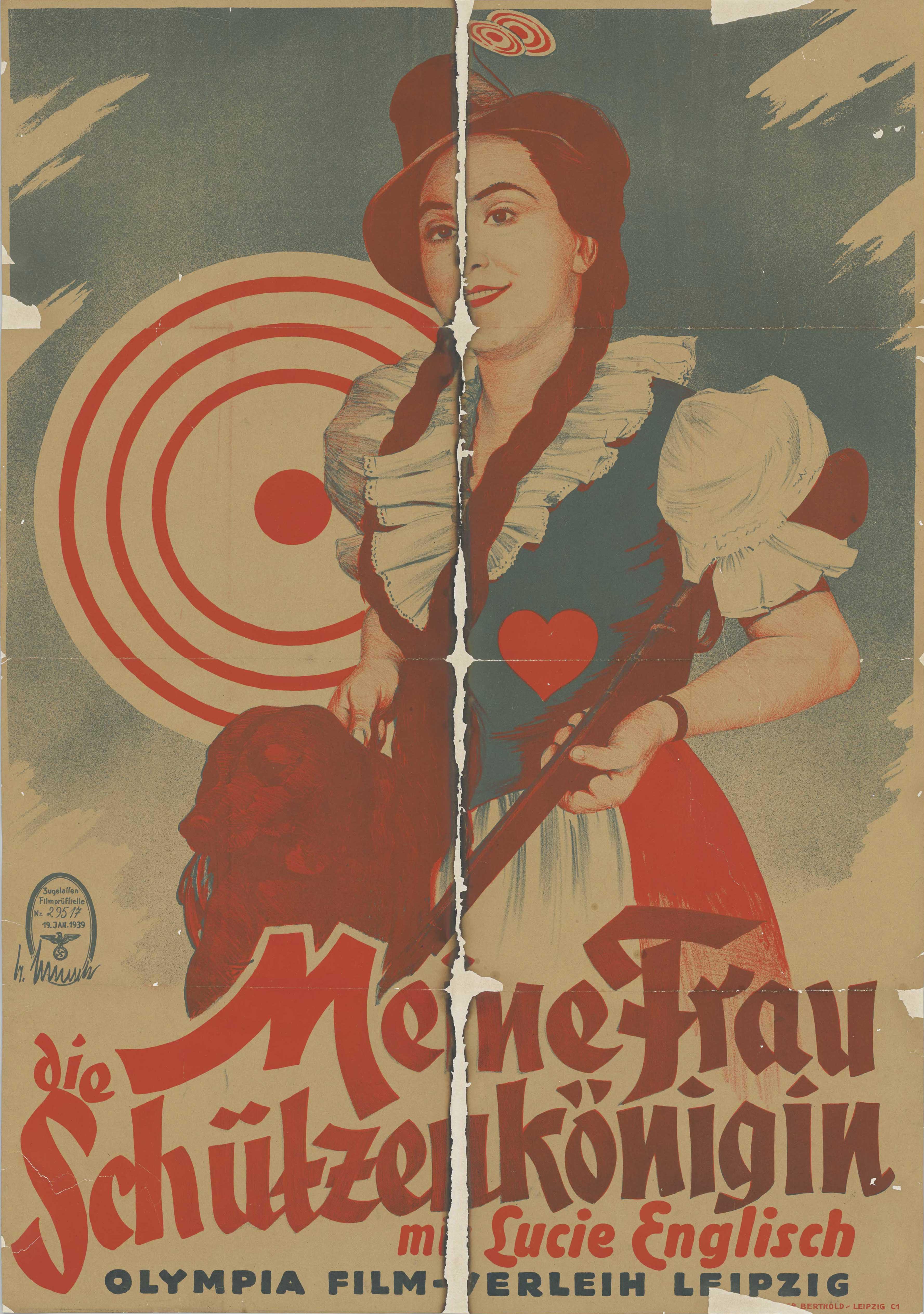 Filmplakat zu dem Film Meine Frau, die Schützenkönigin, Deutschland 1934