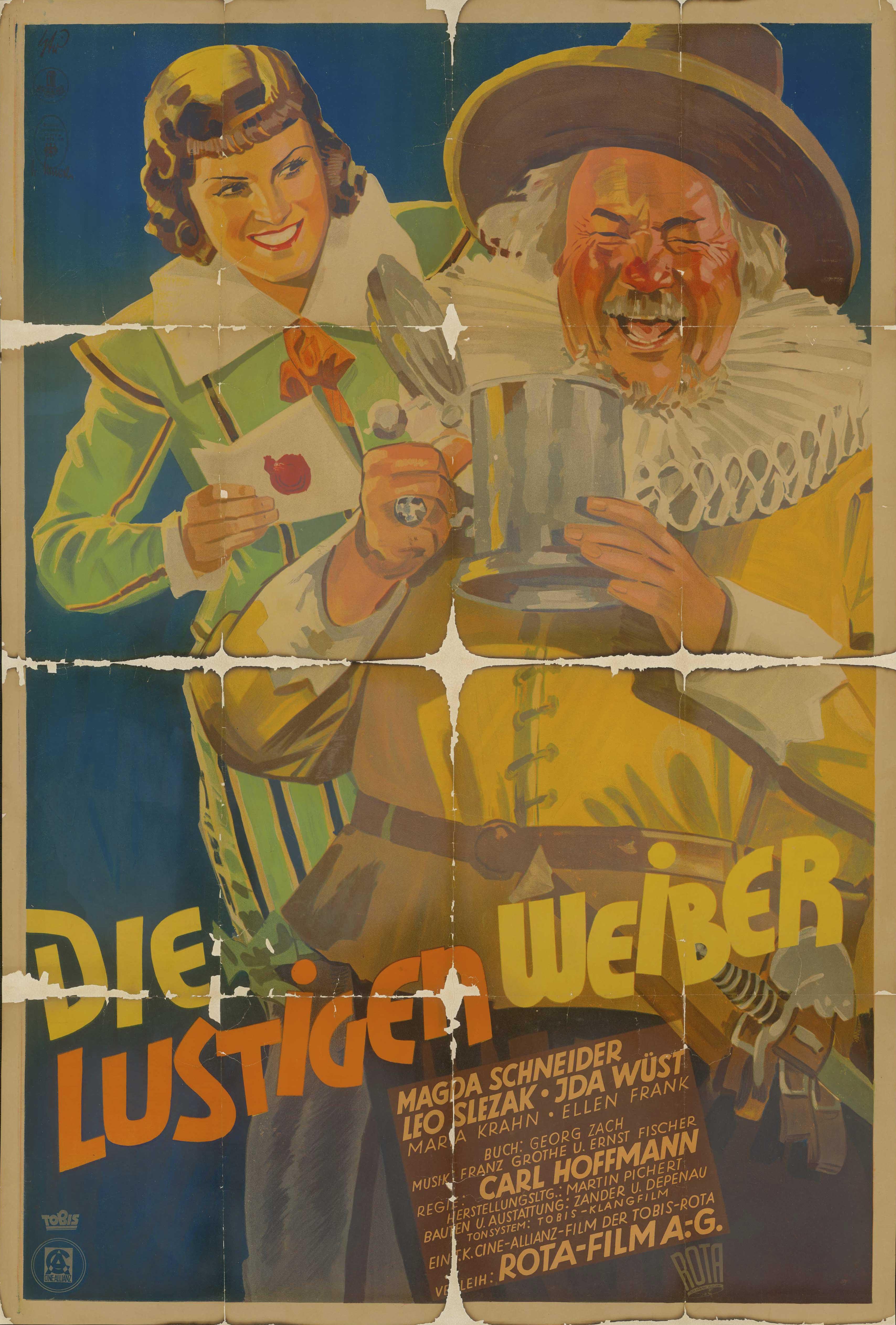 Filmplakat zu dem Film Die lustigen Weiber, Deutschland 1935