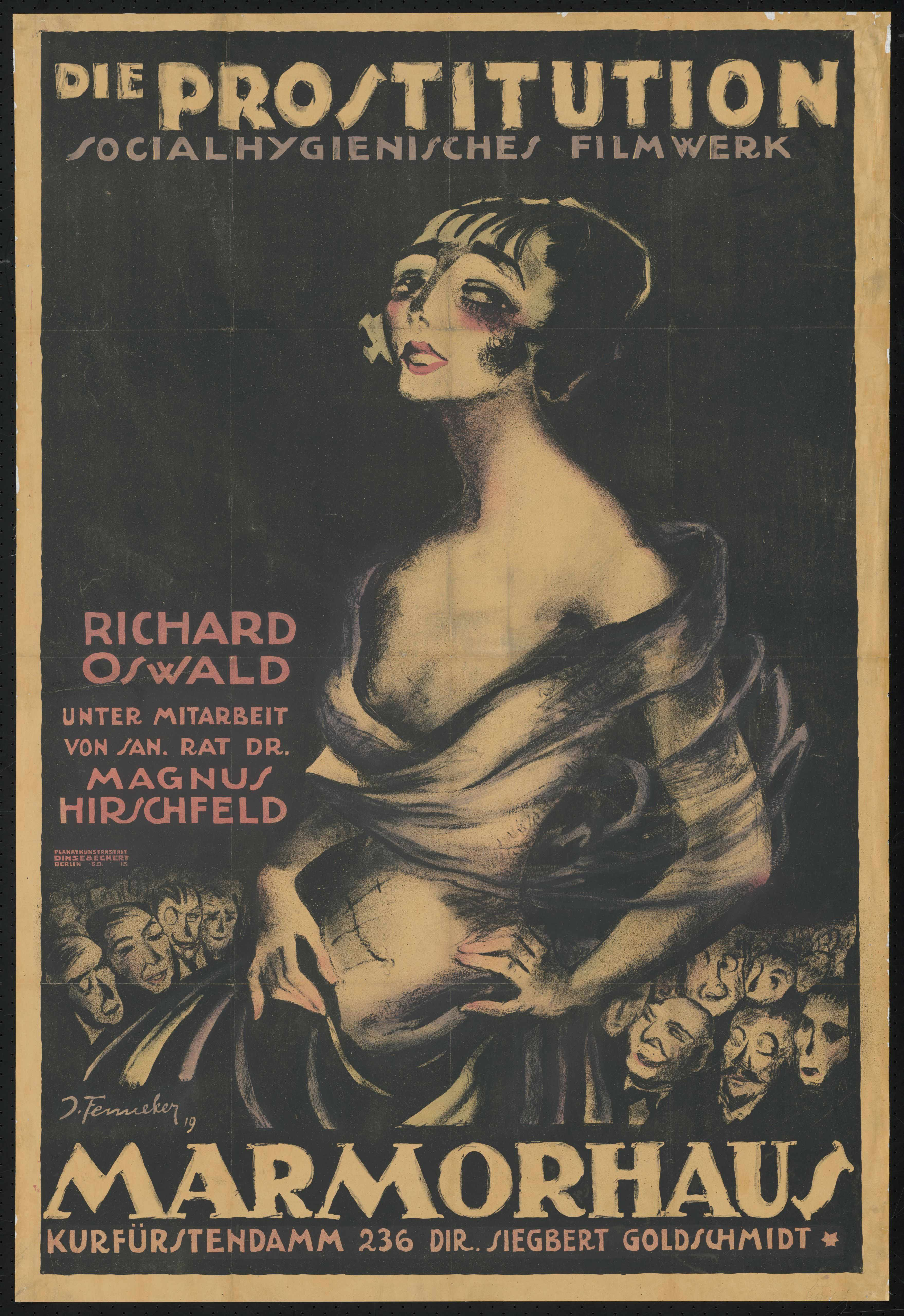 Film poster by Josef Fenneker: Prostitution, Germany 1918, directed by Richard Oswald