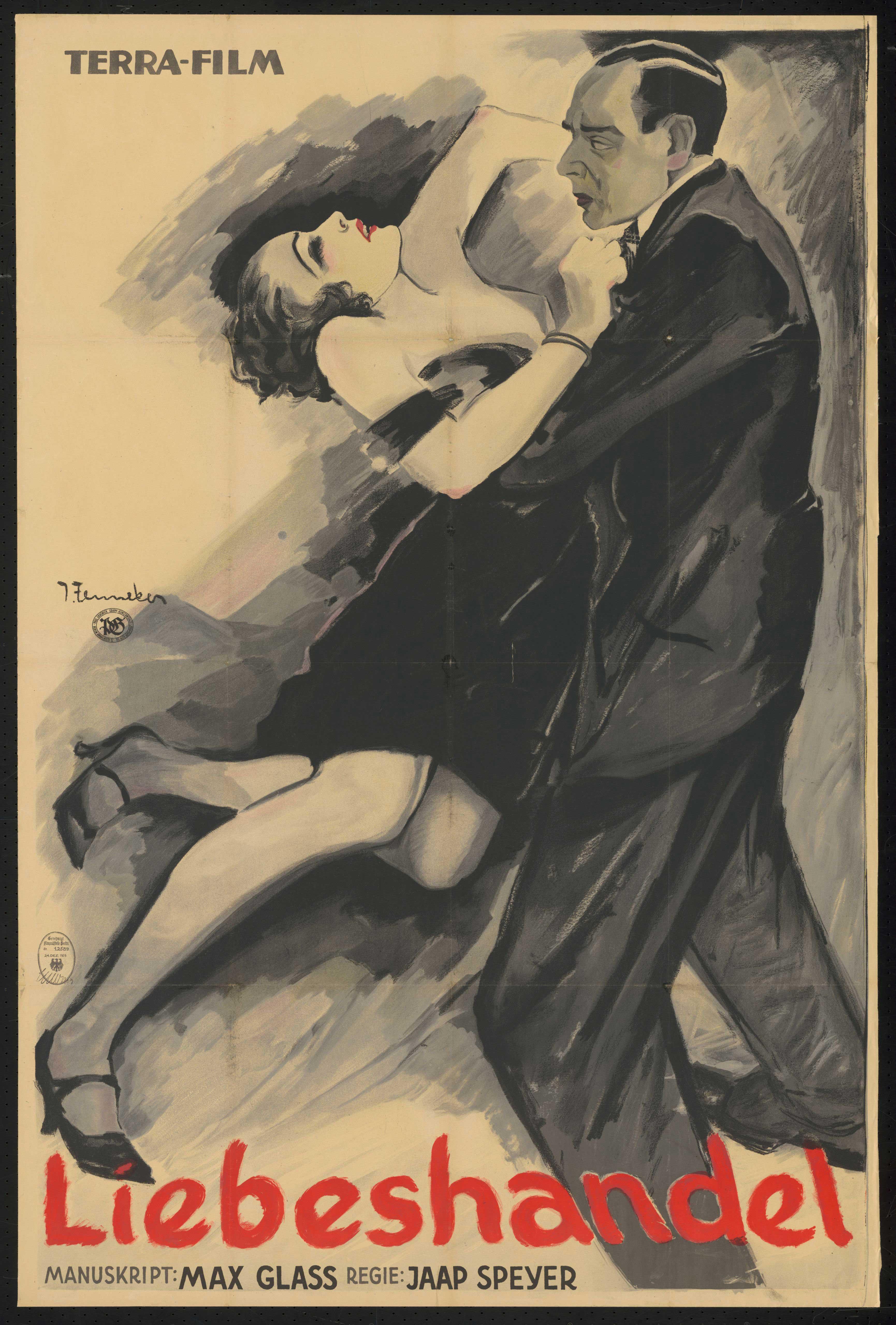 Film poster by Joef Fenneker: Liebeshandel, Germany 1926, directed by Jaap Speyer