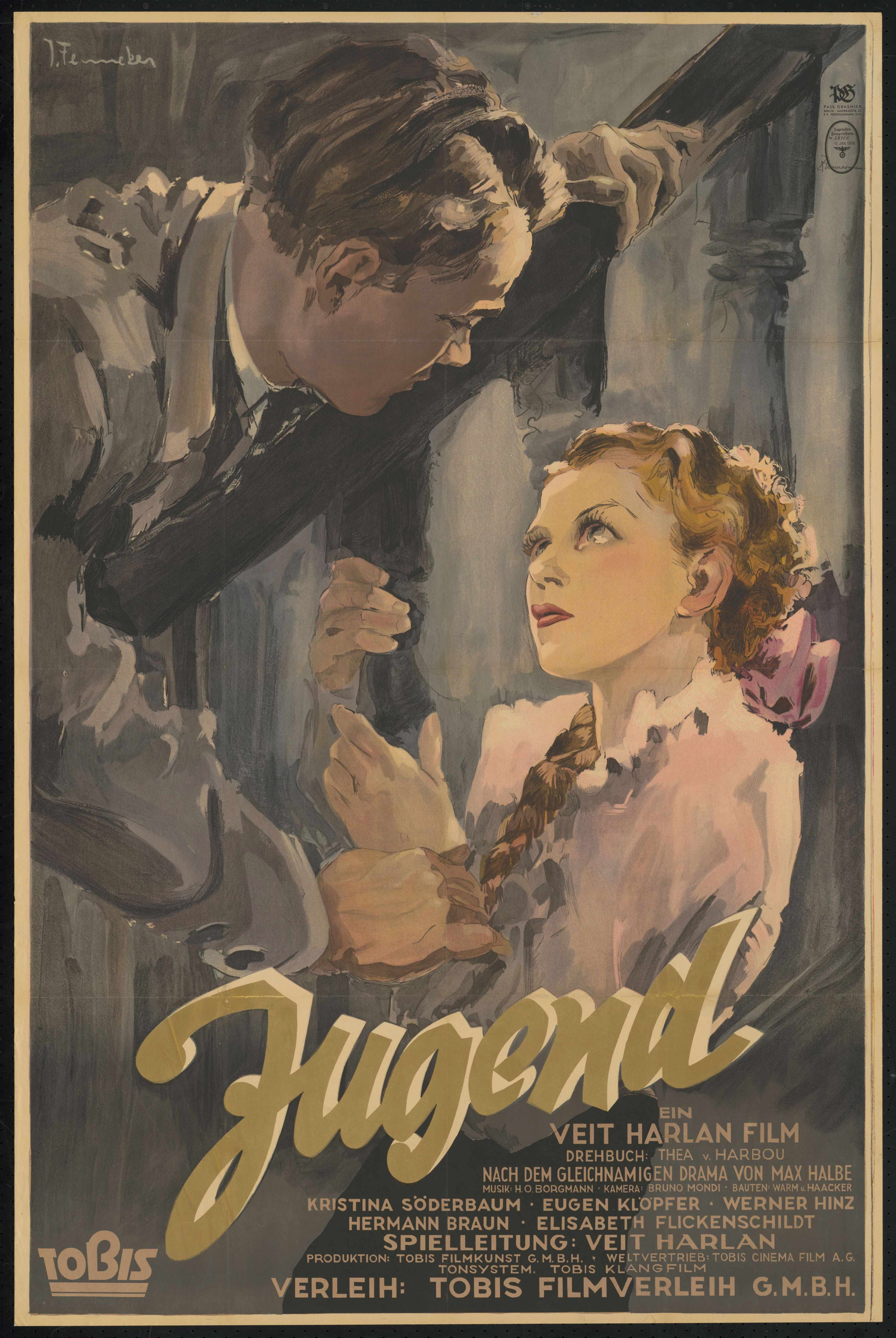 Film poster by Josef Fenneker: Jugend, Germany 1937, directed by Veit Harlan