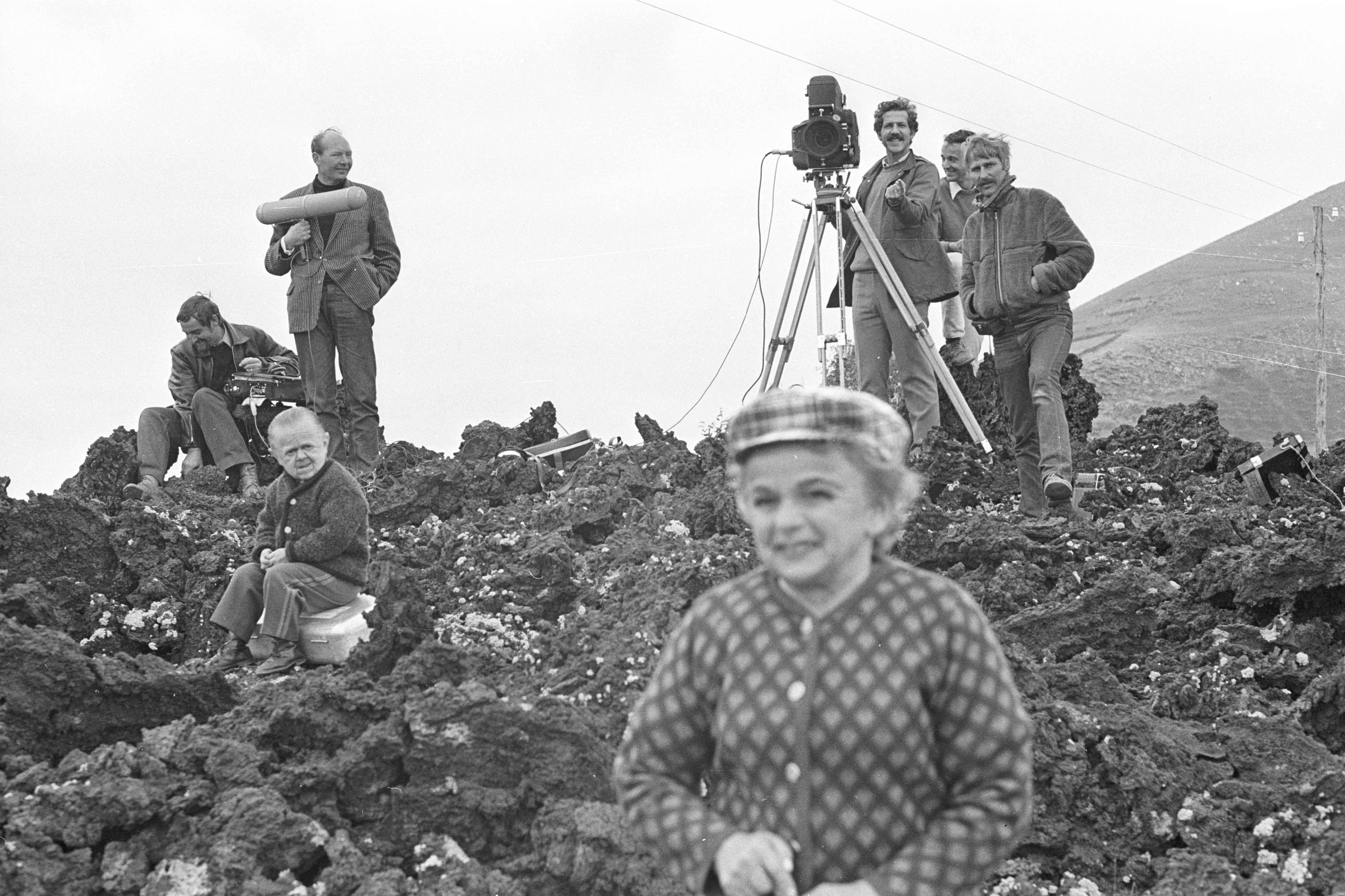 Behind the scenes of the film Auch Zwerge haben klein angefangen