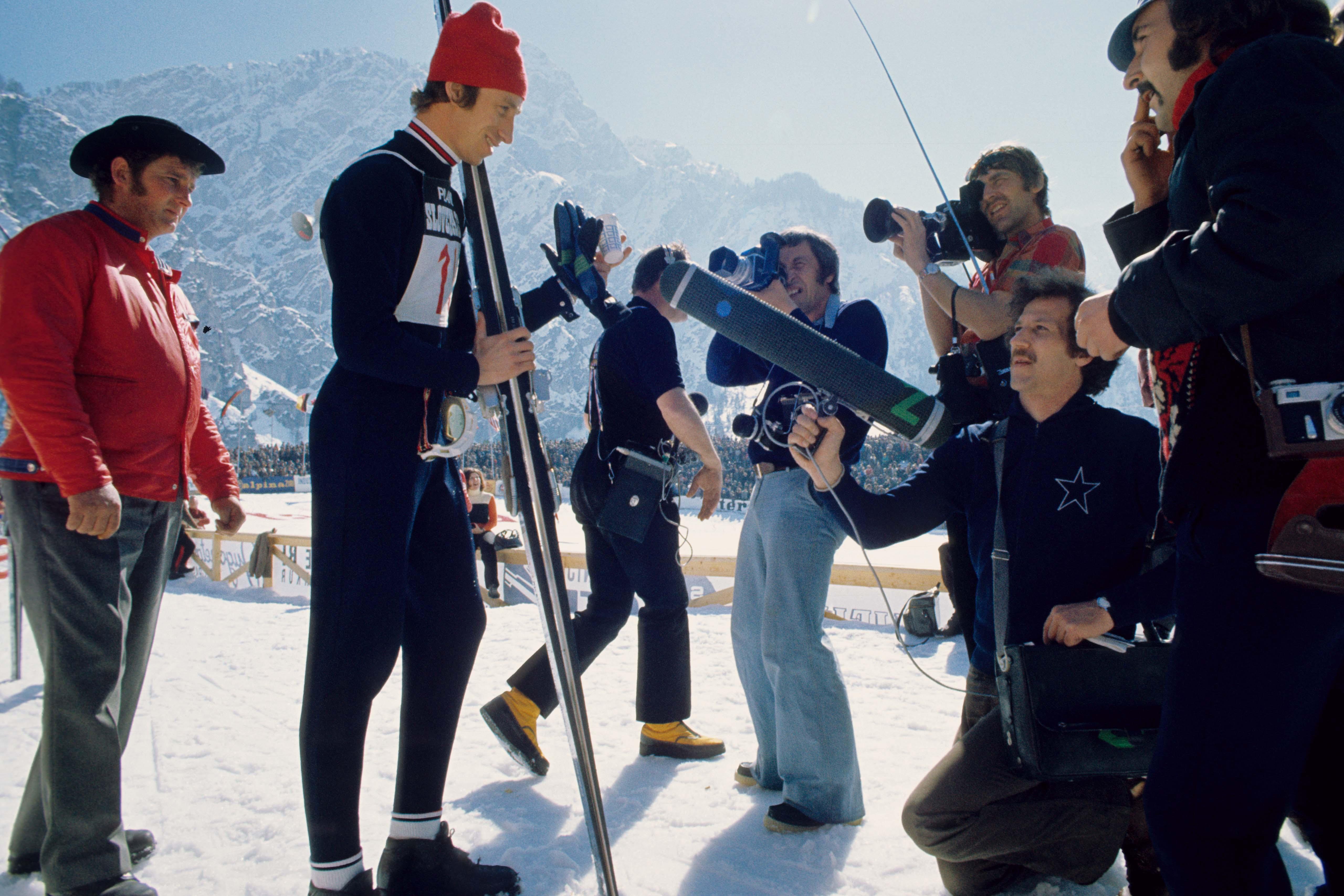 Behind the scenes of the film Die große Ekstase des Bildschnitzers Steiner