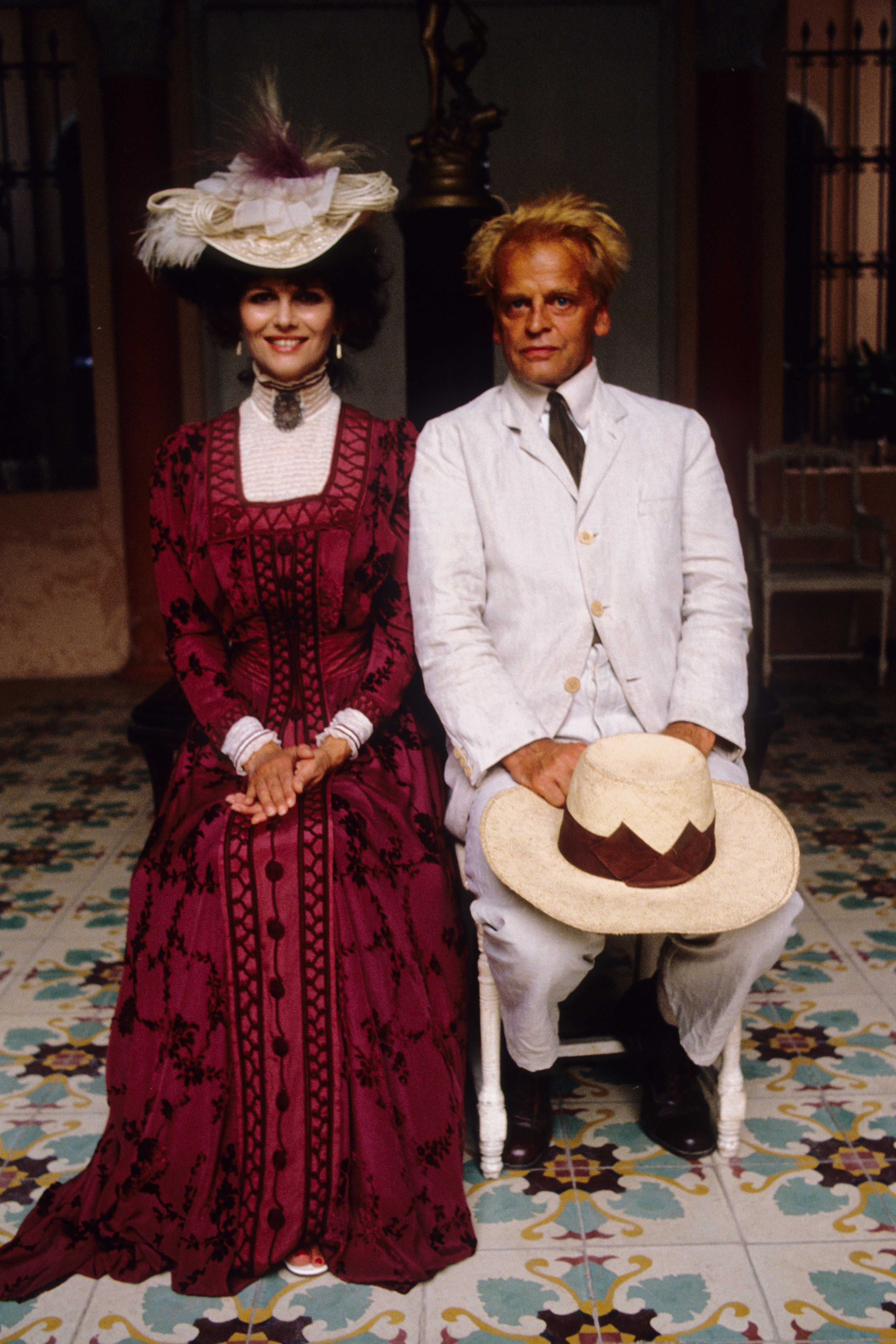 Character portrait of Claudia Cardinale and Klaus Kinski in the flm Fitzcarraldo