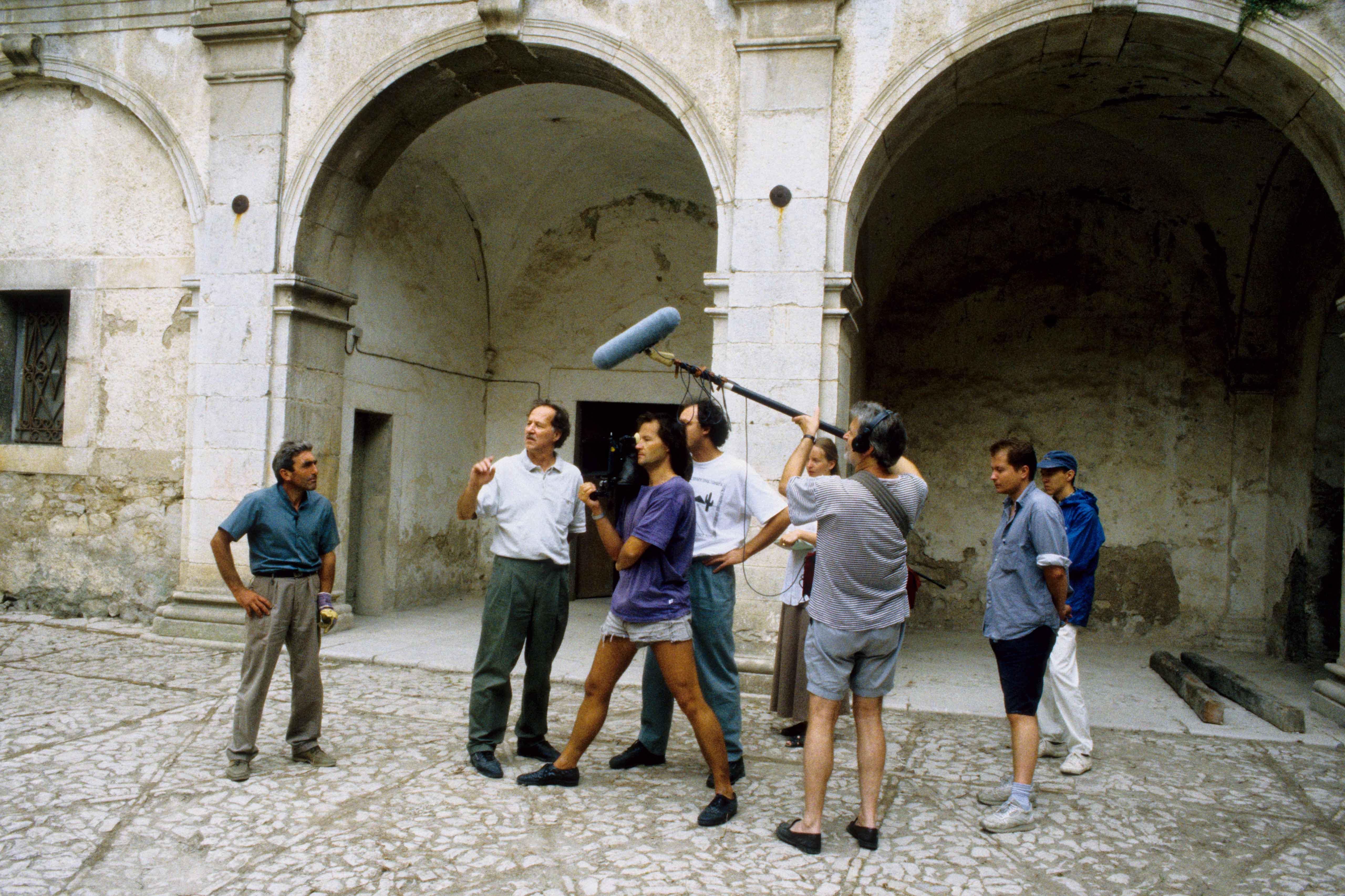 Behind the scenes of the film Gesualdo – Tod für fünf Stimmen
