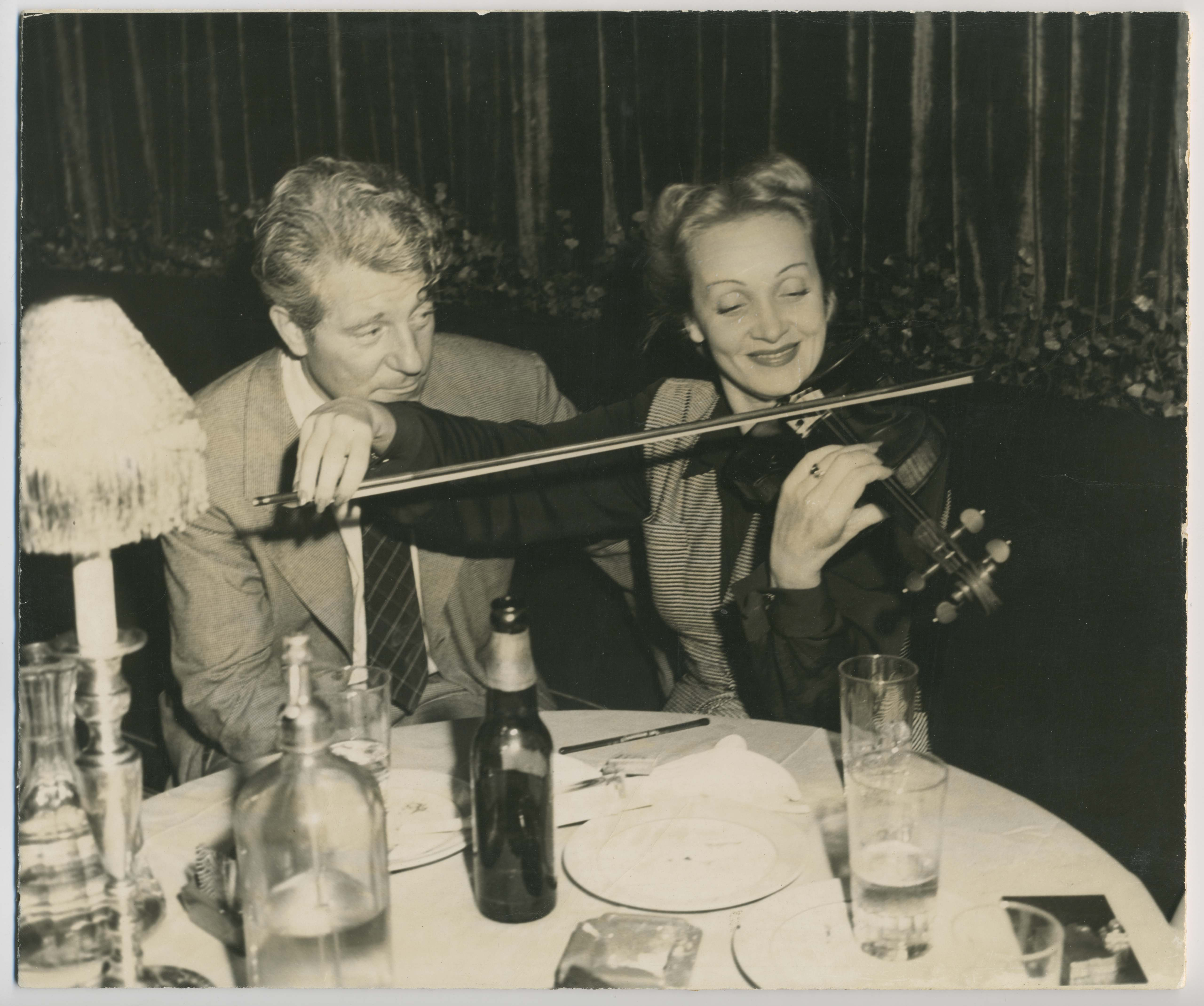 Jean Gabin and Marlene Dietrich, New York, 1944