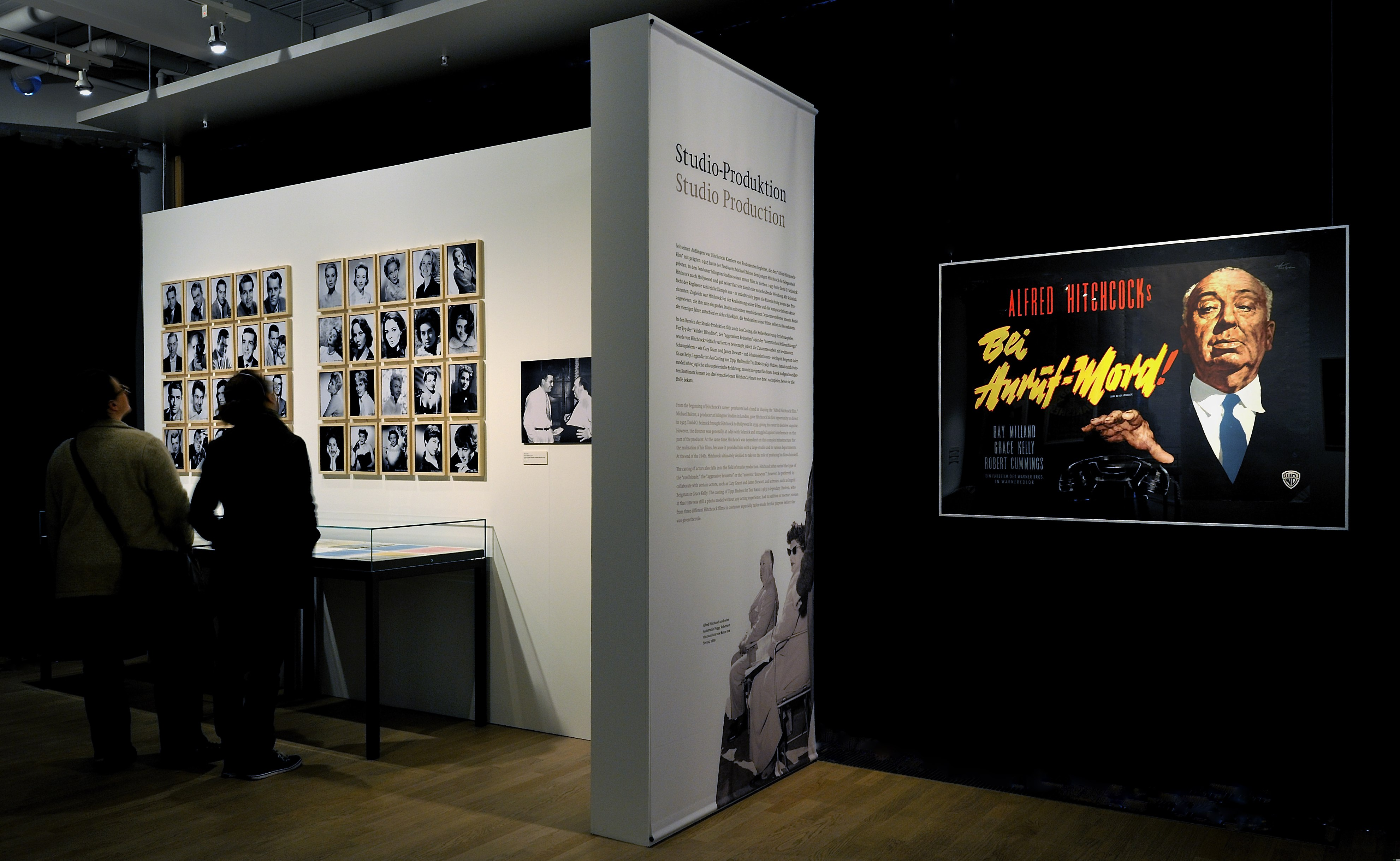 "View of the exhibition ""Casting a Shadow – Creating the Alfred Hitchcock Film"", Deutsche Kinemathek, Berlin"