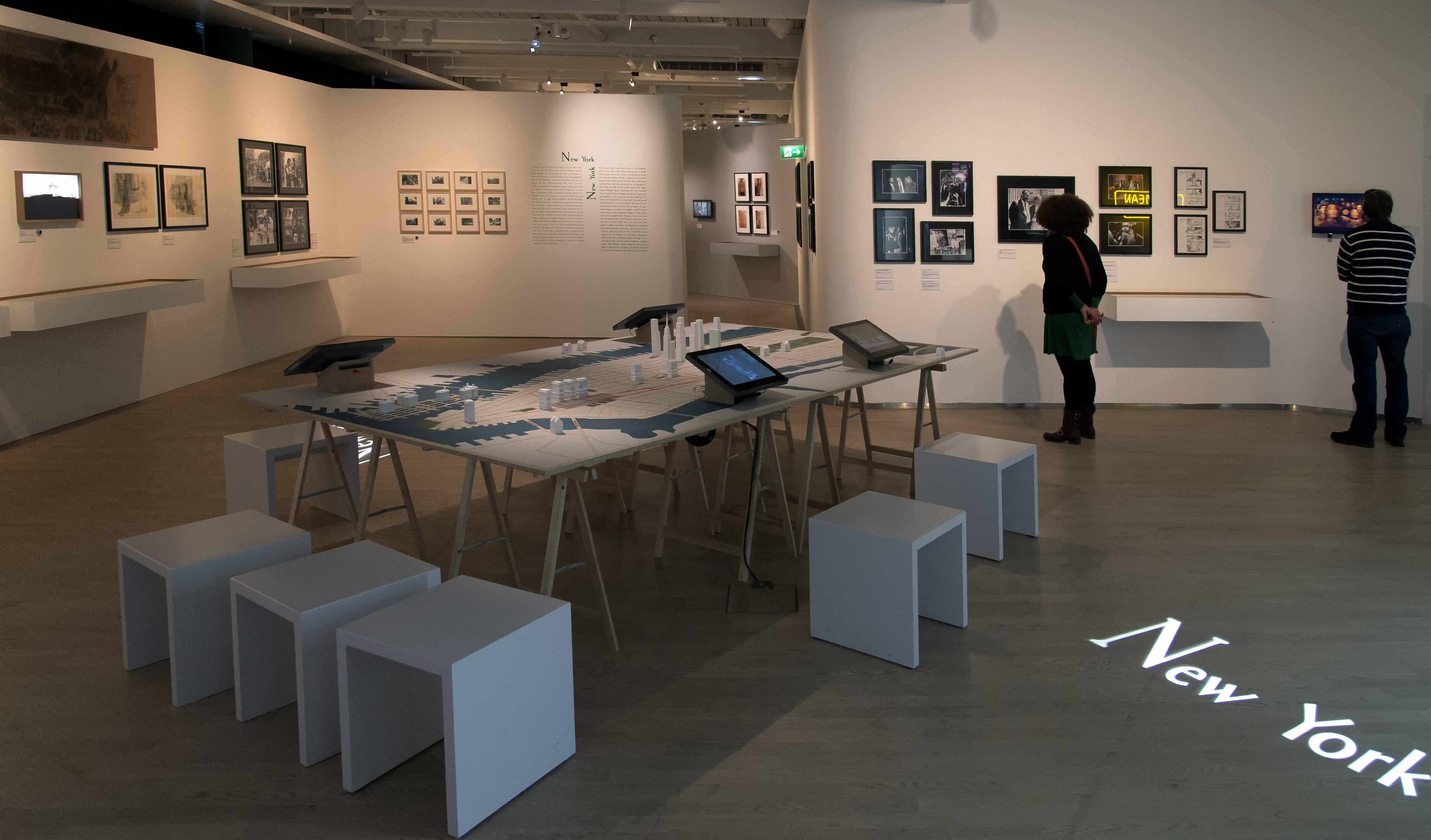"""Raumansicht der Ausstellung """"Martin Scorsese"""", Deutsche Kinemathek, Berlin"""