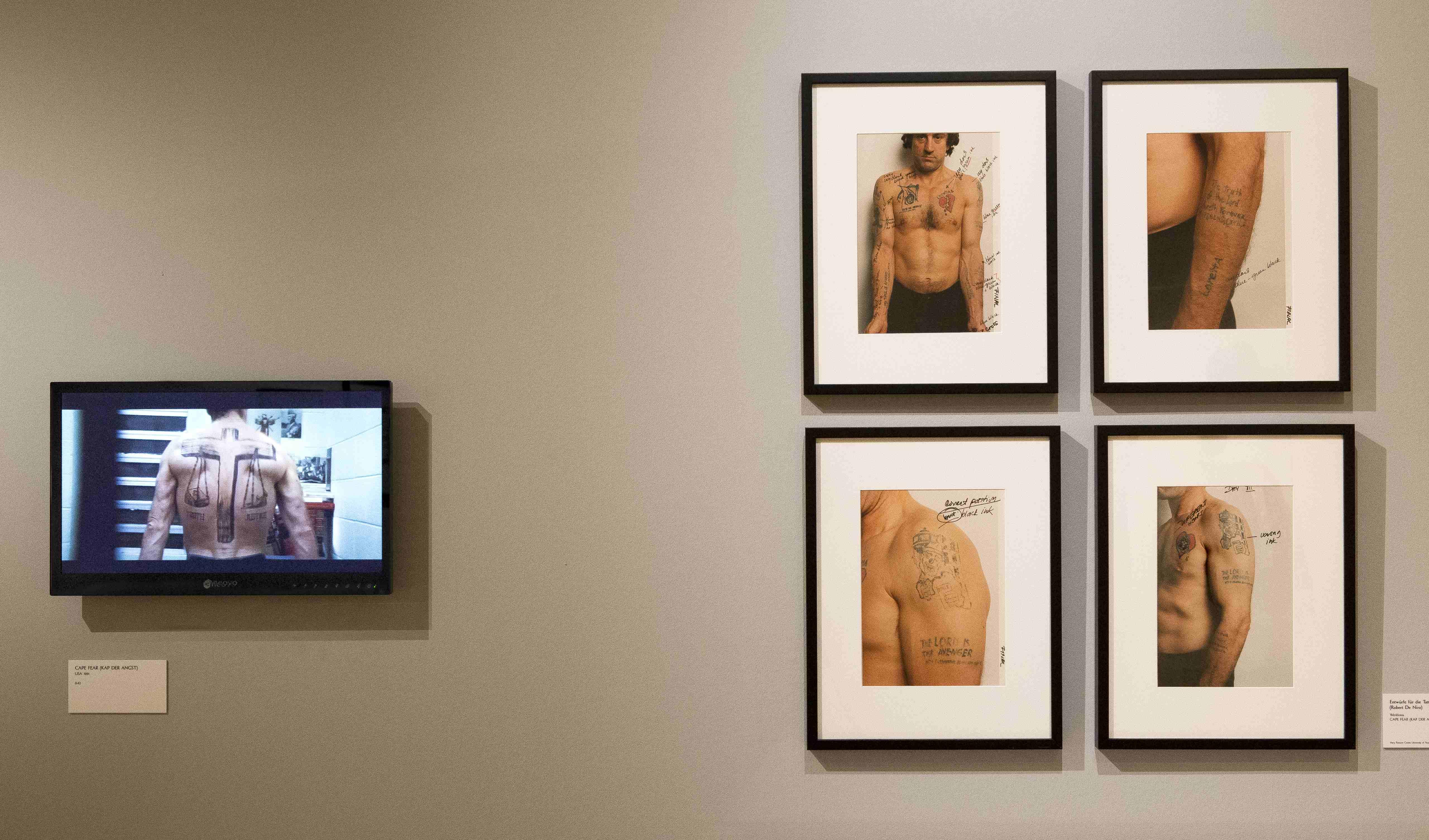 """Detailansicht der Ausstellung """"Martin Scorsese"""", Deutsche Kinemathek, Berlin"""