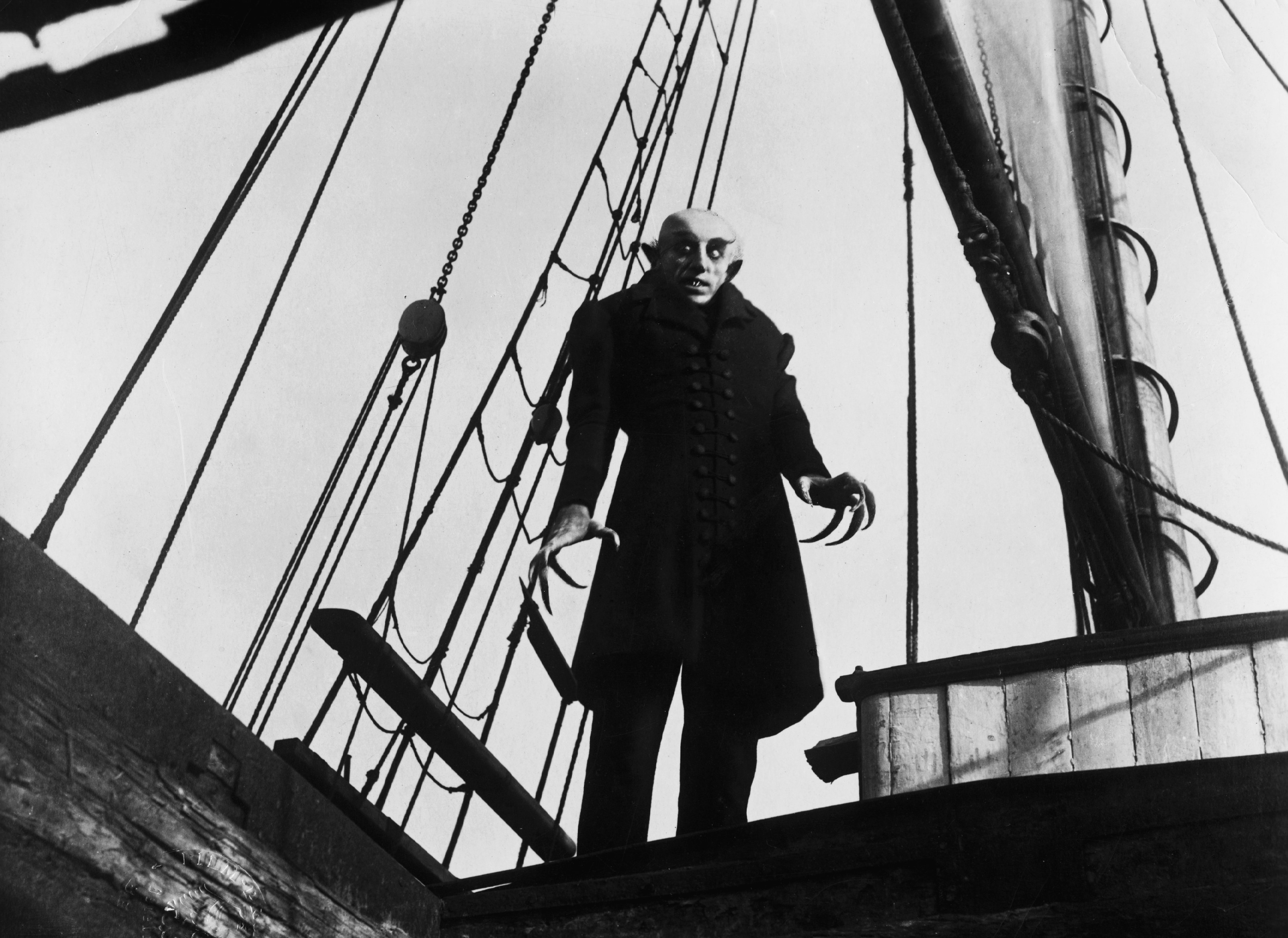 Production photo from the film Nosferatu (Germany 1921, directed by Friedrich Wilhelm Murnau)