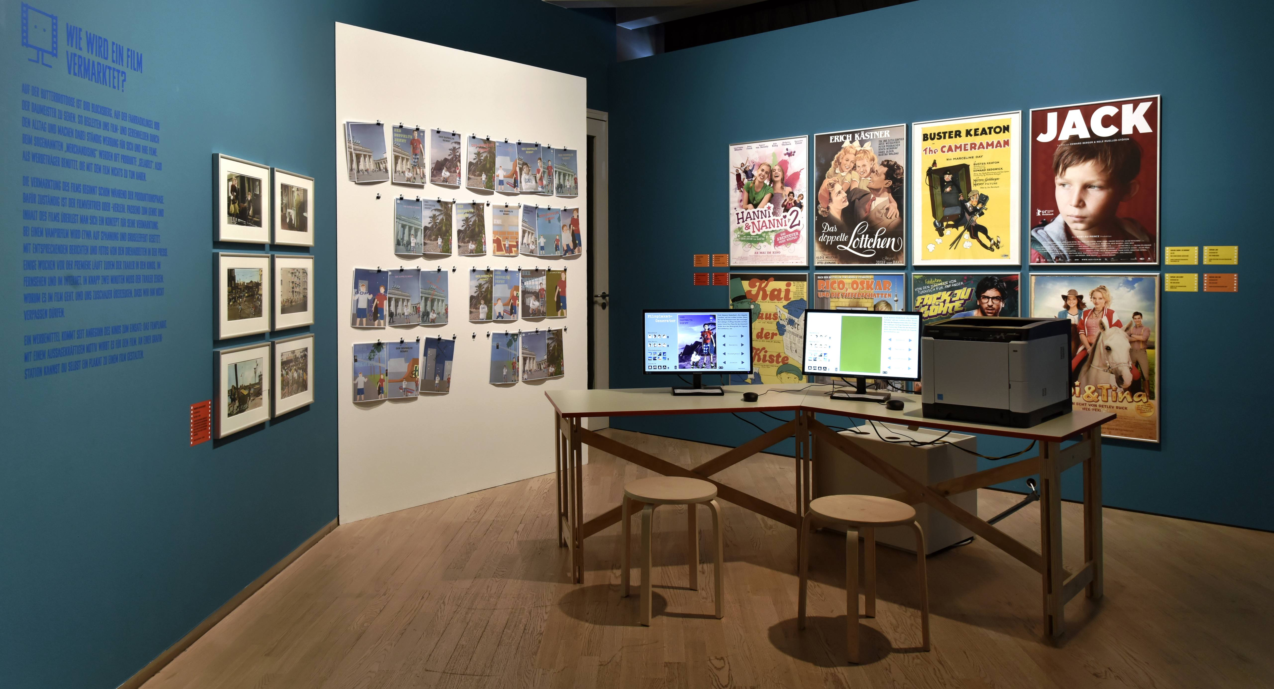 "View of the exhibition ""… and Action! How are Films and Television Made?"", Deutsche Kinemathek, Berlin"