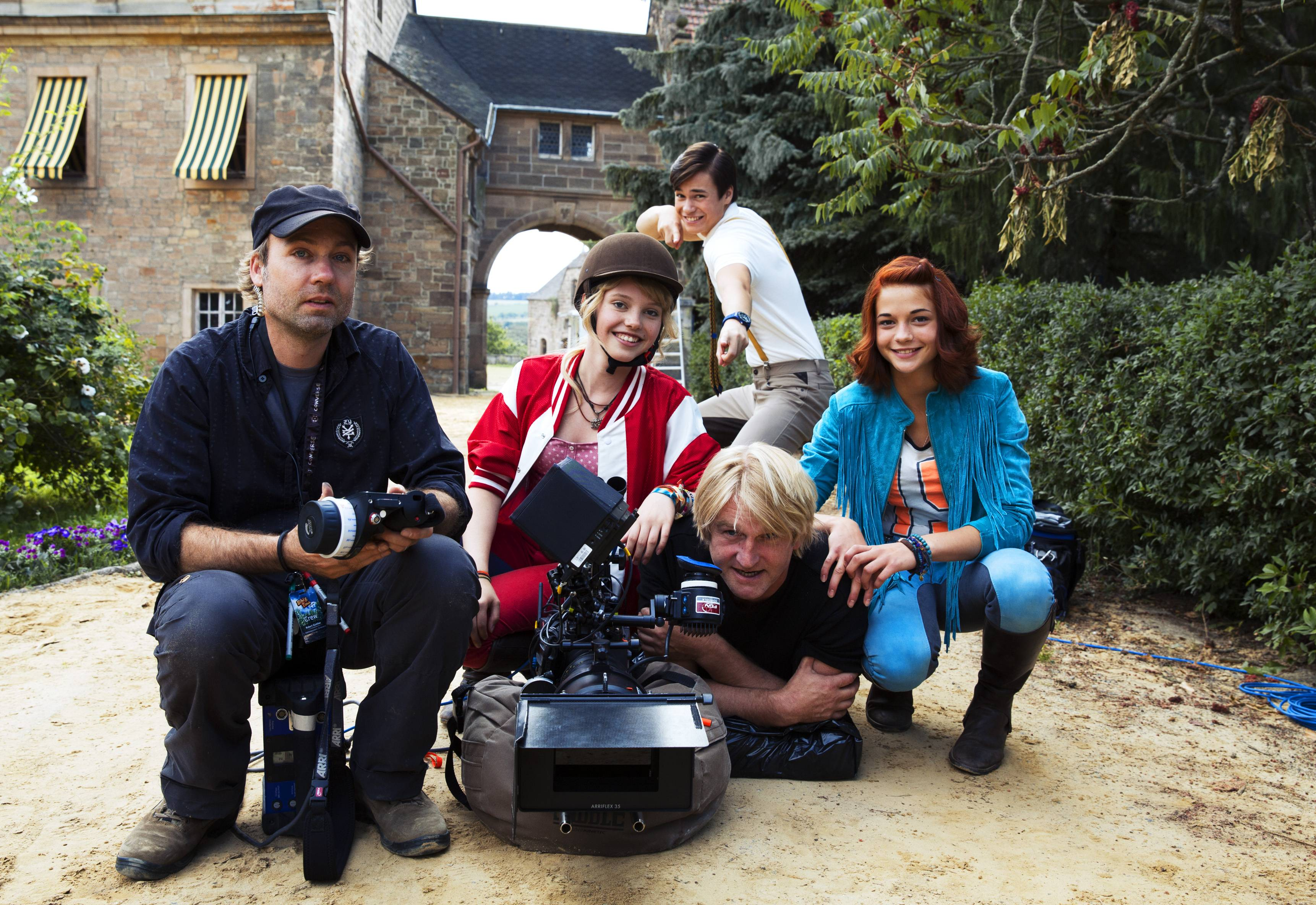 Behind the scenes of the film Bibi und Tina (Germany 2014, directed by Detlev Buck)