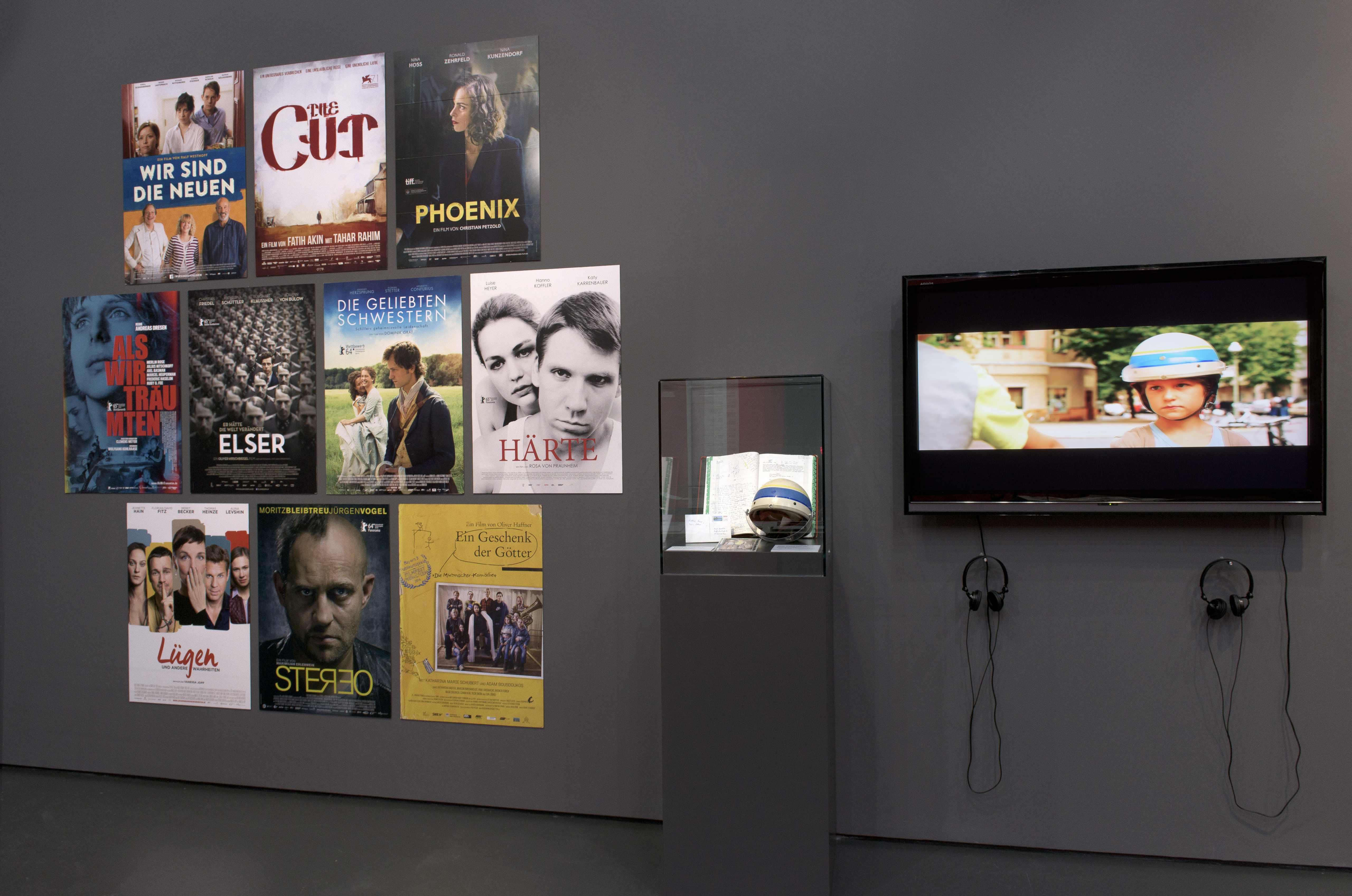 """View of the exhibition """" Deutscher Filmpreis - Die Lola im Museum für Film und Fernsehen"""", Deutsche Kinemathek, Berlin"""