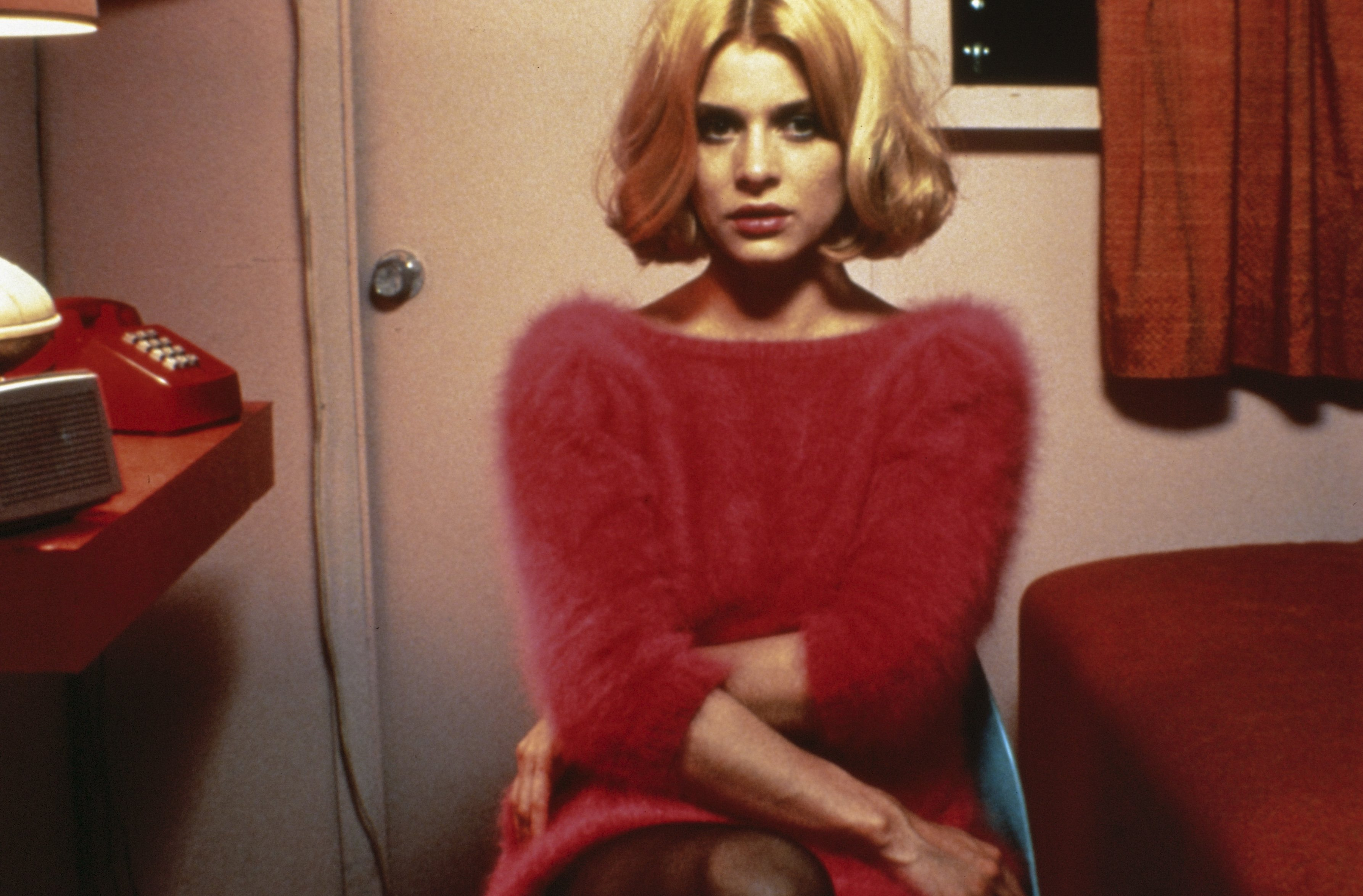 Production photo of Natassja Kinski in the film Paris, Texas (France/Federal Republic of Germany 1984, directed by Wim Wenders)