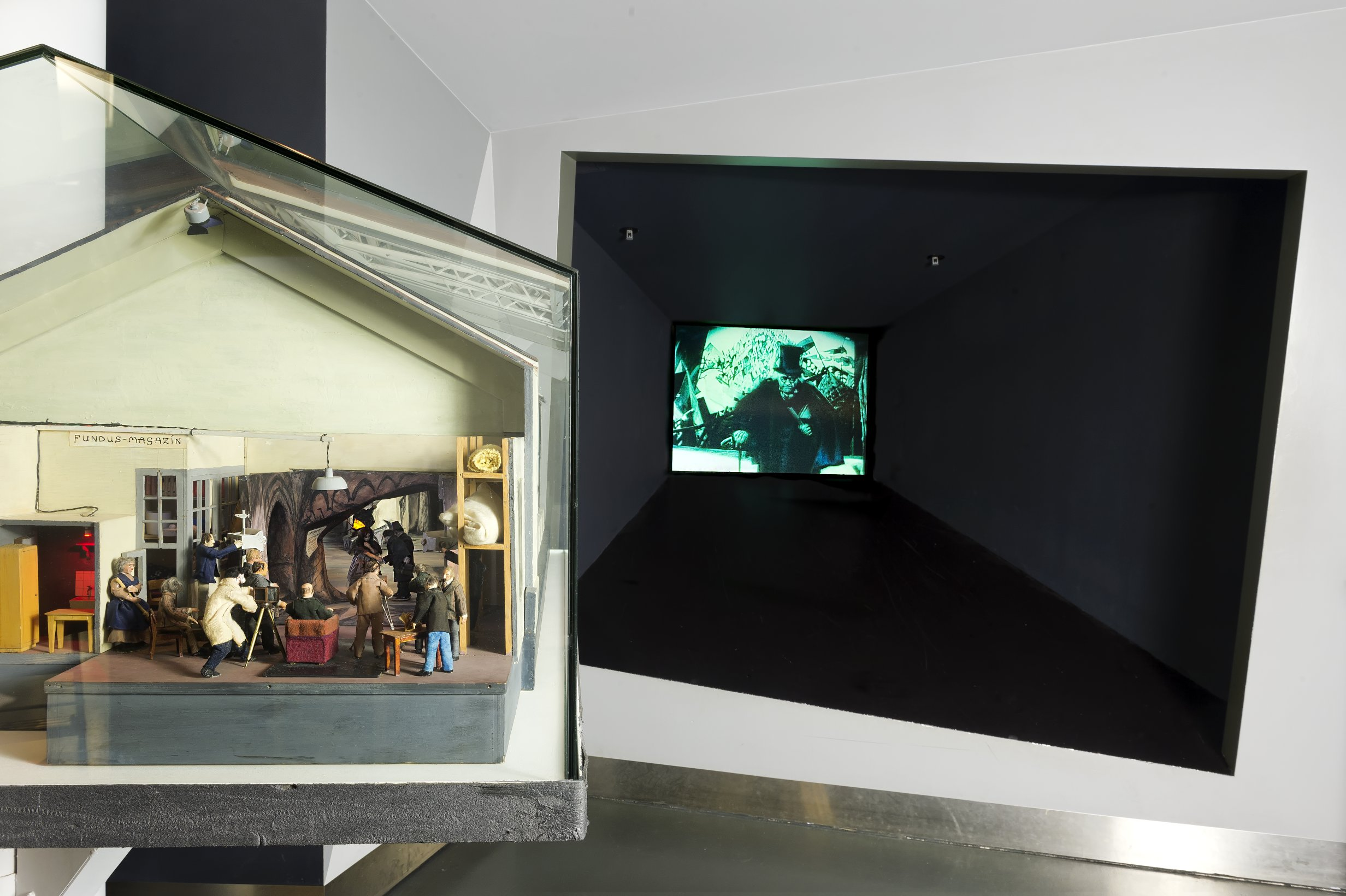 Studiomodell des Sets von Das Cabinet des Dr. Caligari