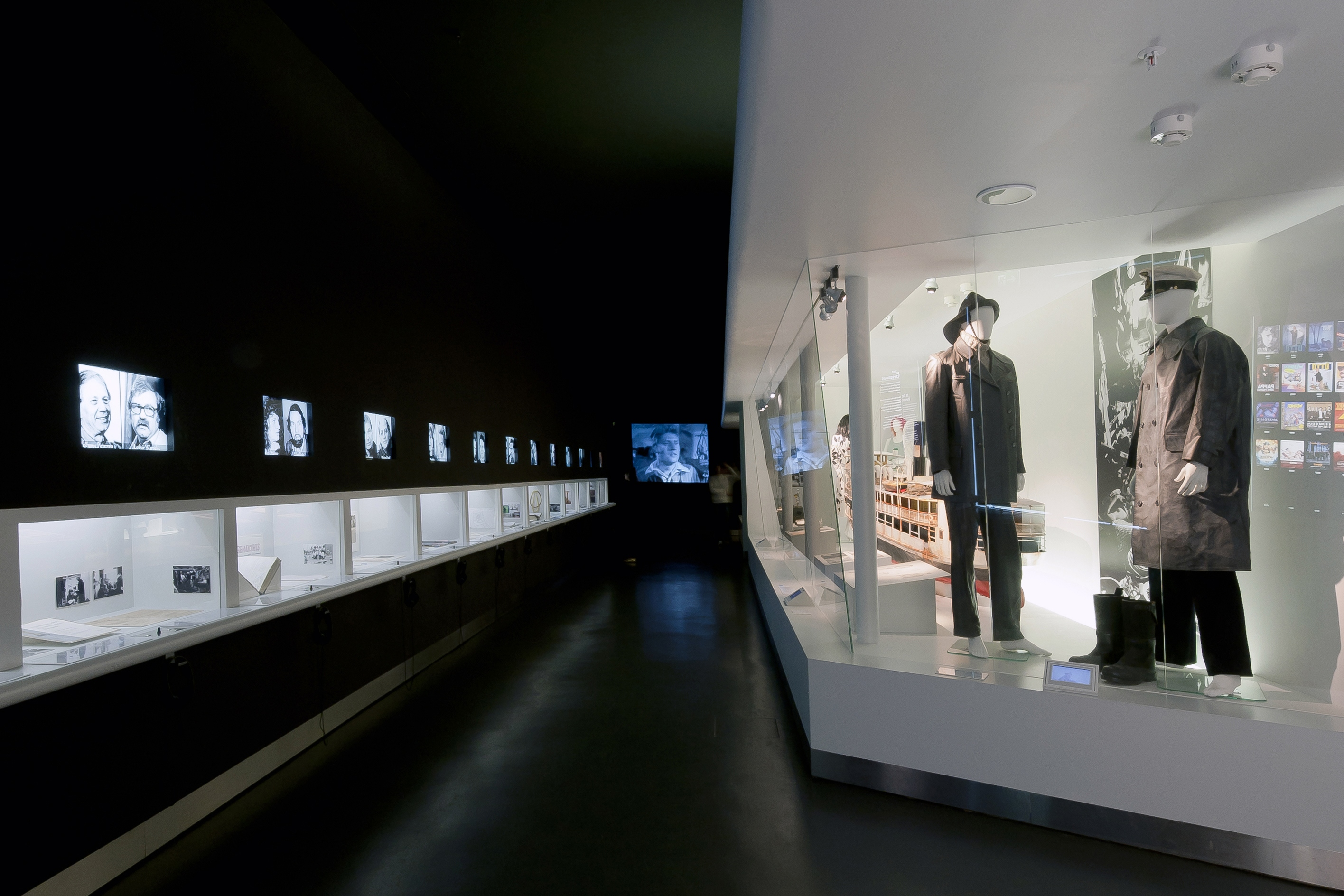 Part of the exhibition about the Present of film