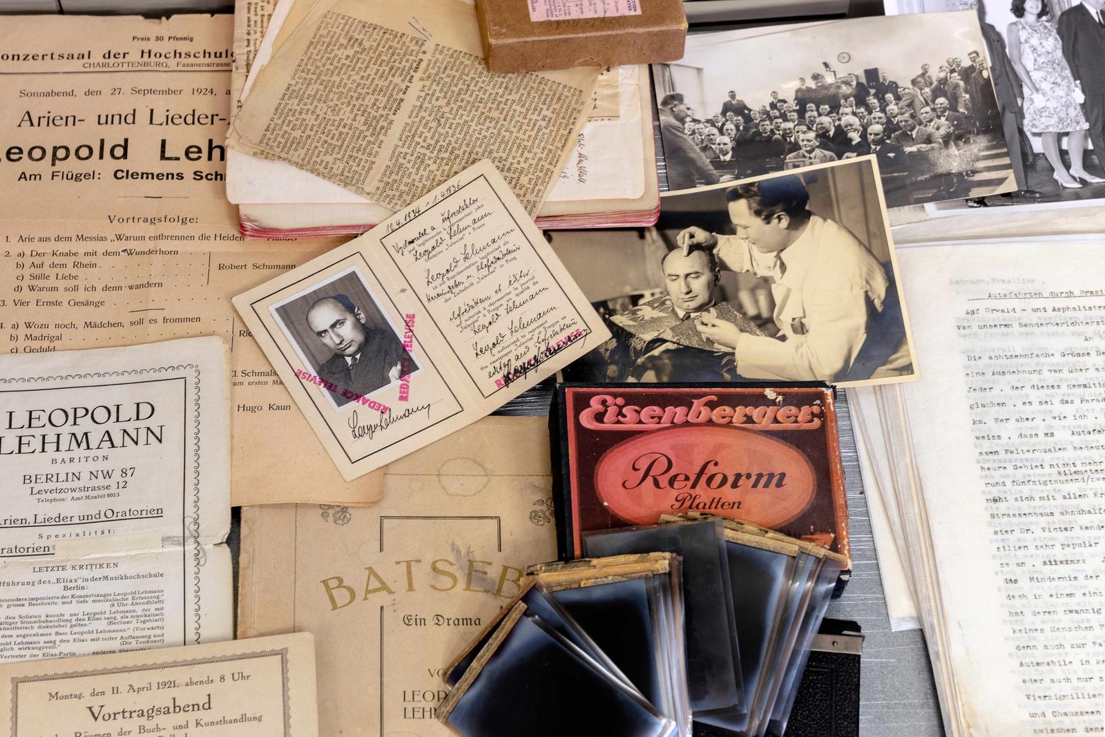 Materialien aus dem Nachlass von Leopold Lehmann
