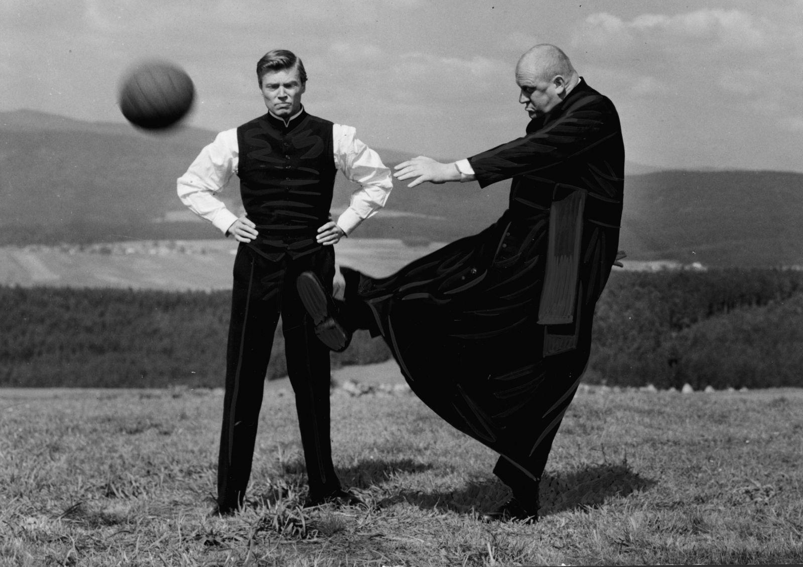 Werbefoto für den Film Der Gauner und der liebe Gott (Bundesrepublik Deutschland 1960, Regie: Axel von Ambesser)