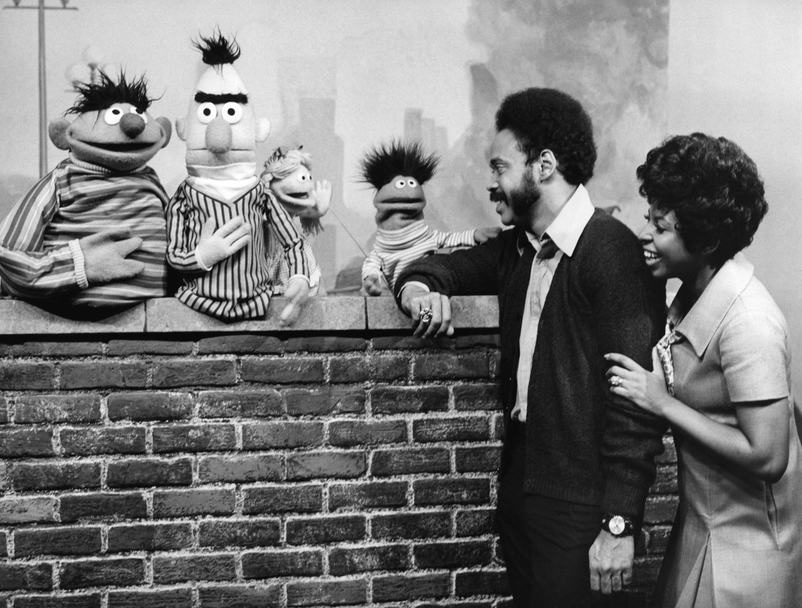 Still from the first broadcasted episode of the children's television series Sesame Street (U.S.A. 1969)
