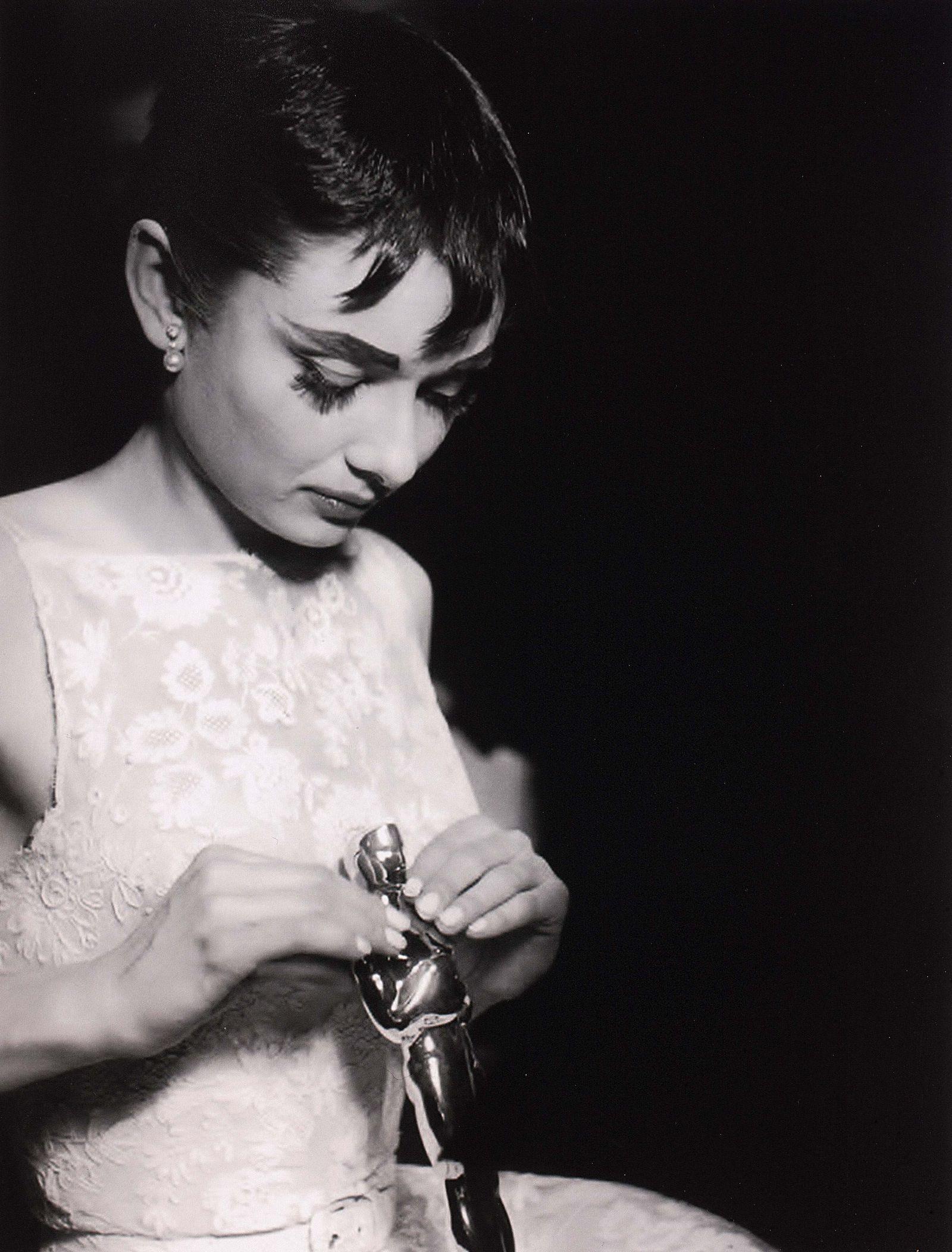 Portrait of Audrey Hepburn after winning an Oscar® for Best Actress