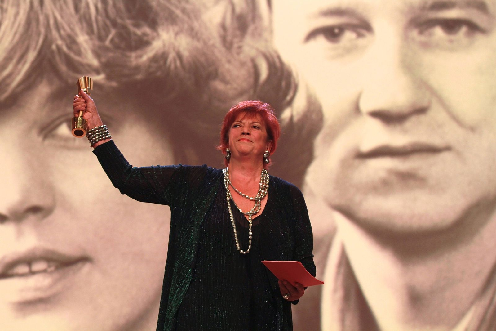 Porträtfoto von Regina Ziegler bei der Verleihung des Deutschen Filmpreises (Fotograf: Jacob Manthey)