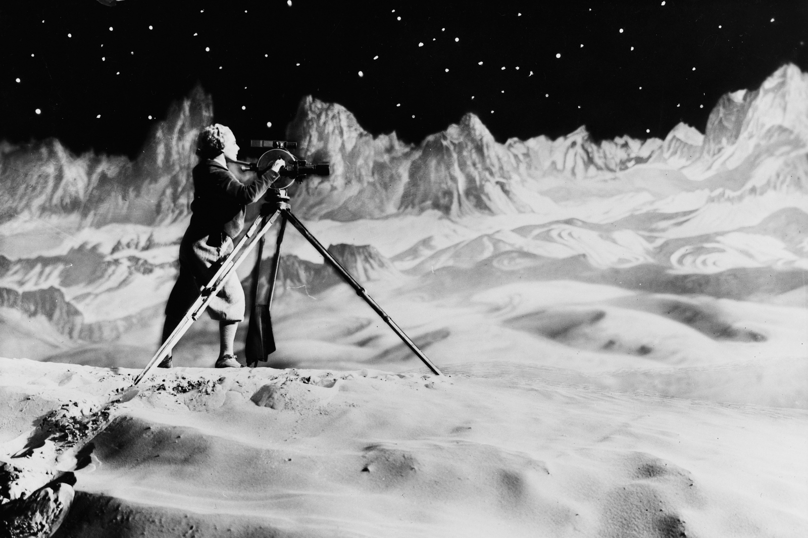 Production phot from the film Woman in the Moon (Germany 1929, directed by Fritz Lang)