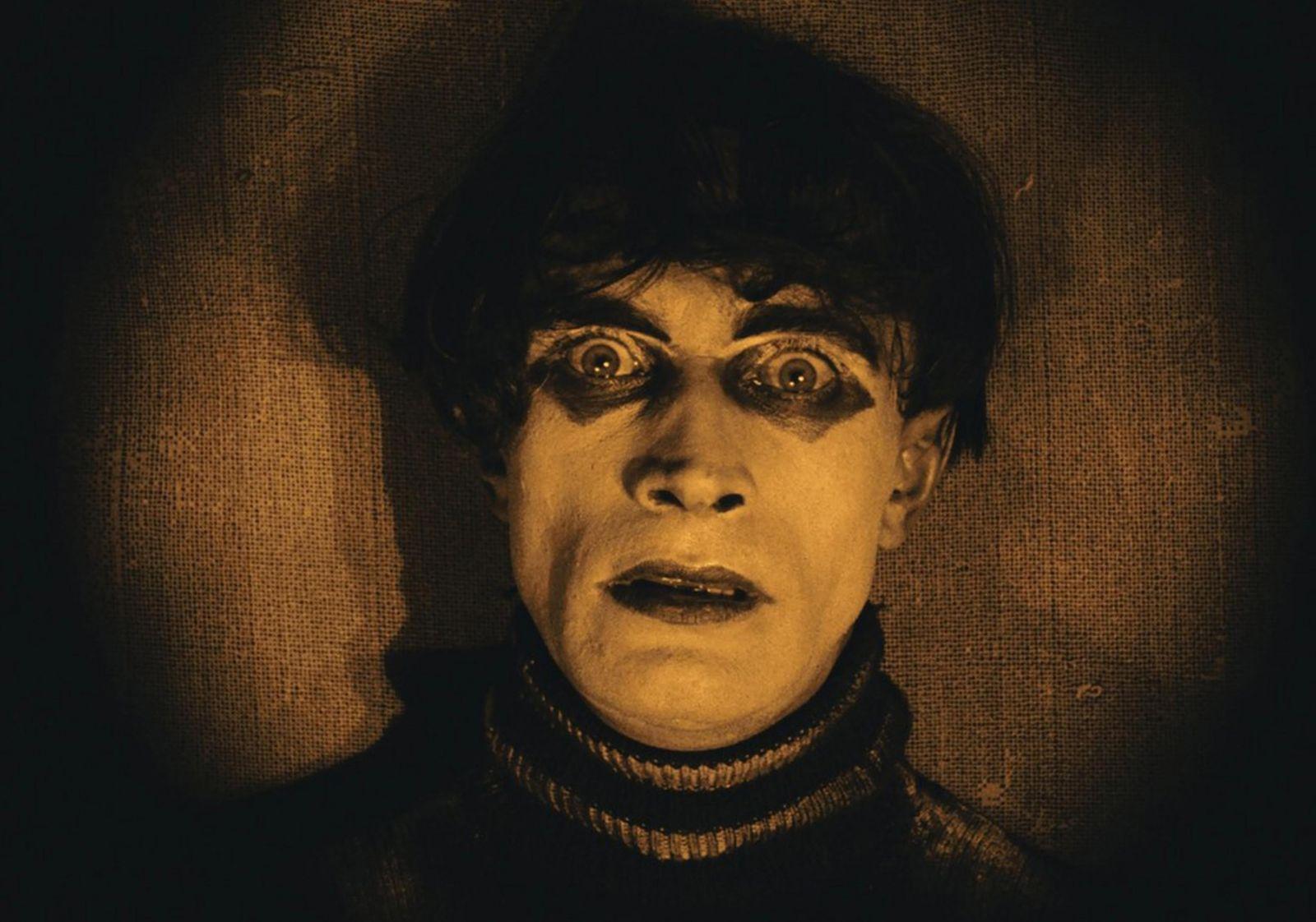Nahaufnahme von Conrad Veidt als Cesare in Das Cabinet des Dr. Caligari