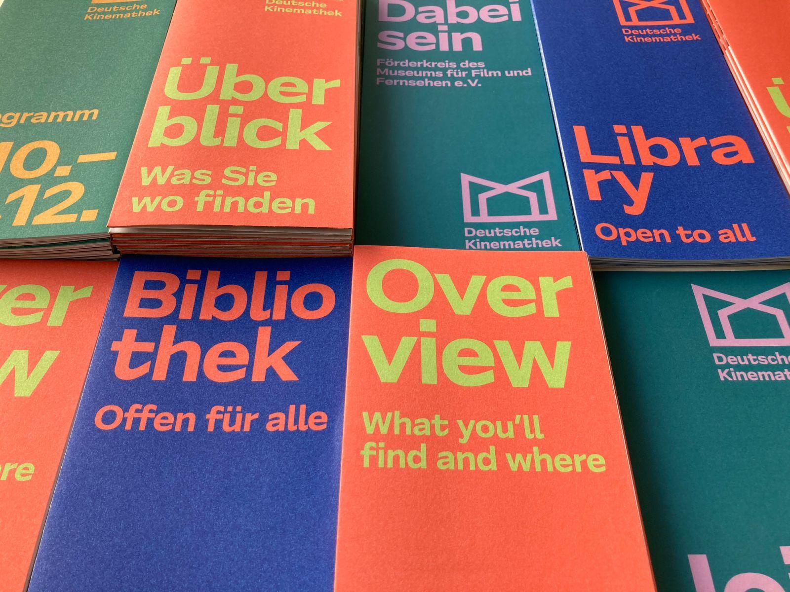 The flyers of the Deutsche Kinemathek