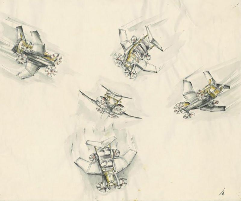 Zeichnungen eines Flugobjekts