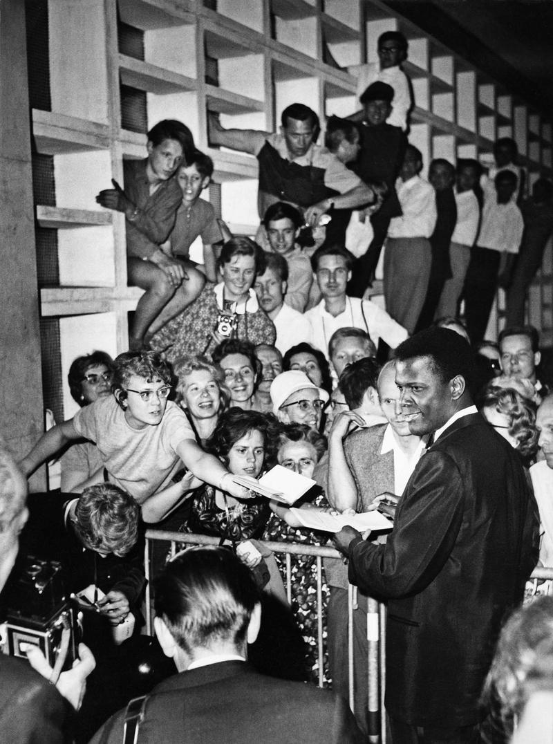 Sidney Poitier at Kongresshalle, Berlinale 1964