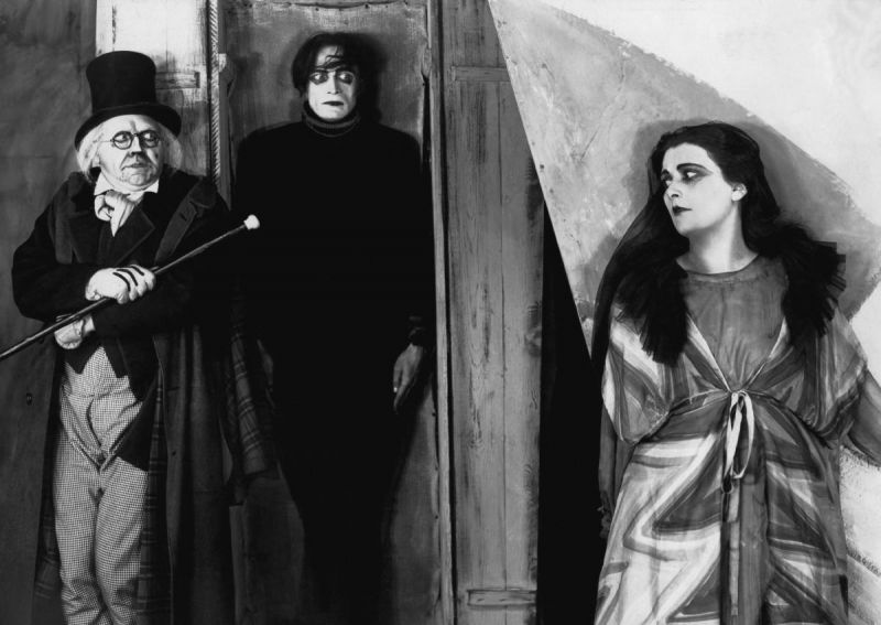 Werner Krauss, Conrad Veidt and Lil Dagover in the Film The Cabinet of Dr. Caligari (GER 1920 directed by Robert Wiene)