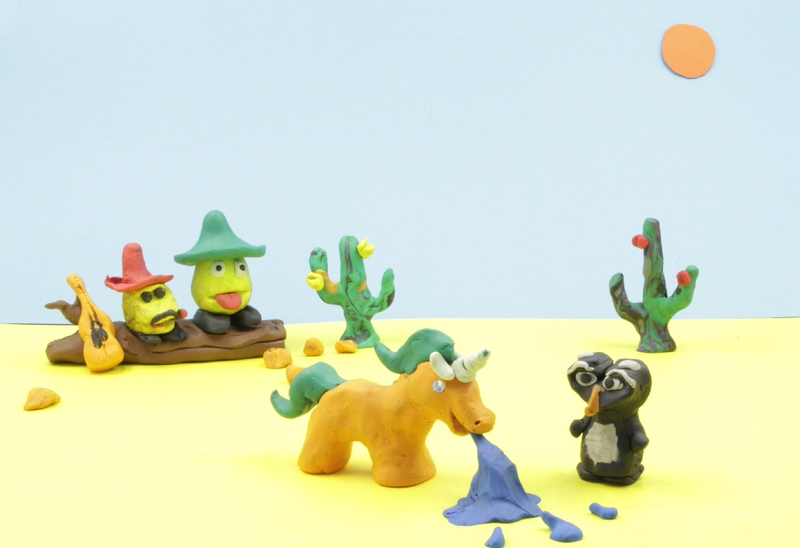 Screenshot from the claymation clip Wüstenfilm, D 2015