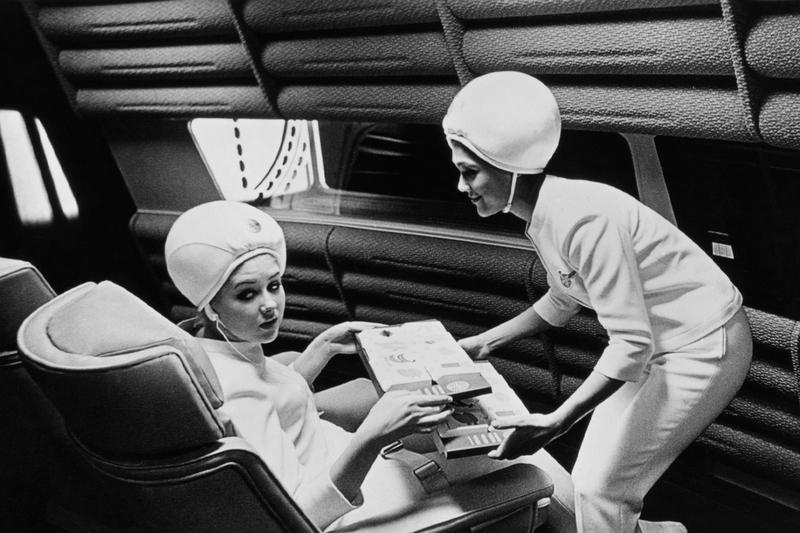 Szenenbild aus Stanley Kubricks Film 2001: Odyssee im Weltraum